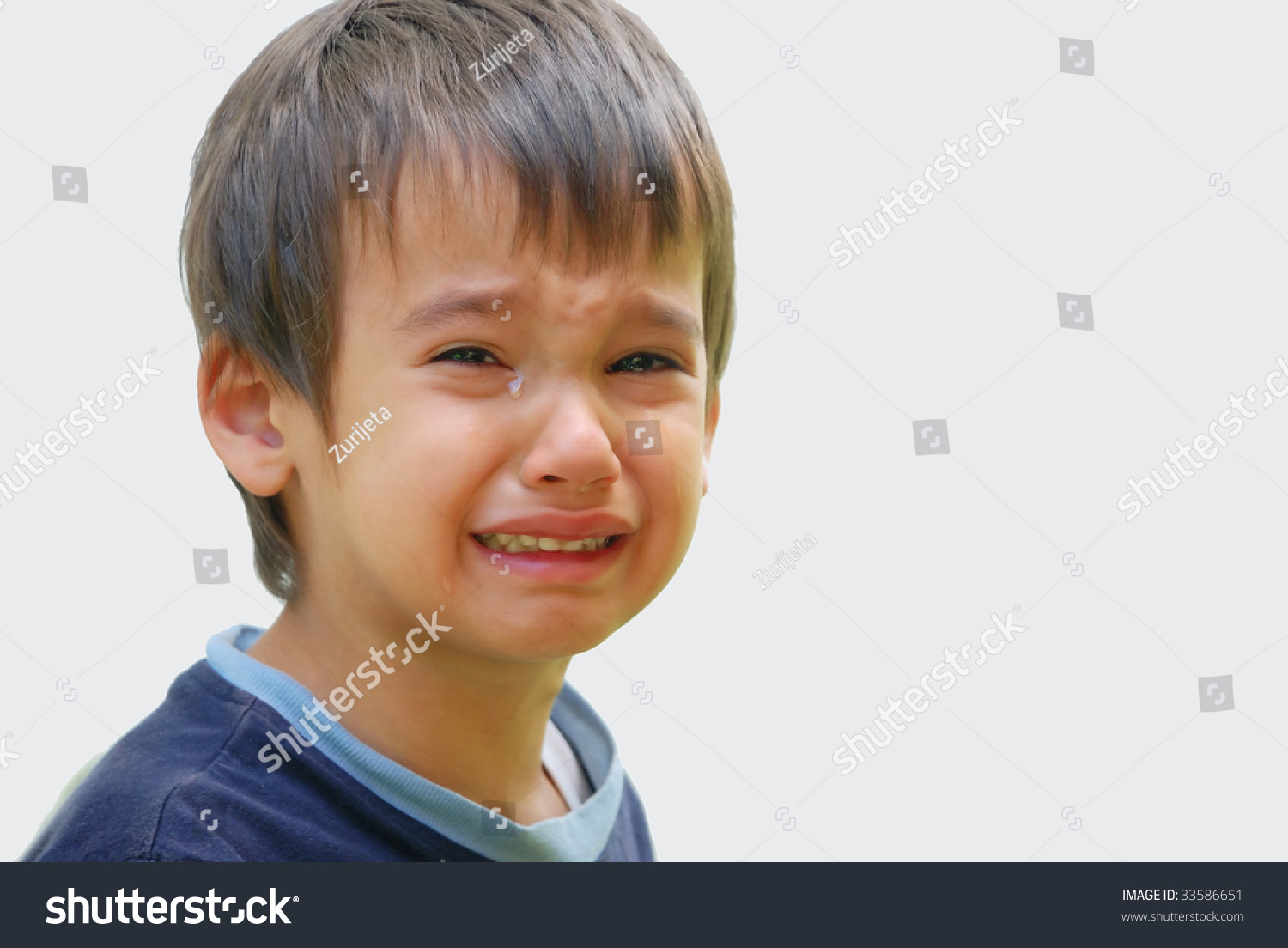 little cute kid truly crying dropping stock photo (edit now