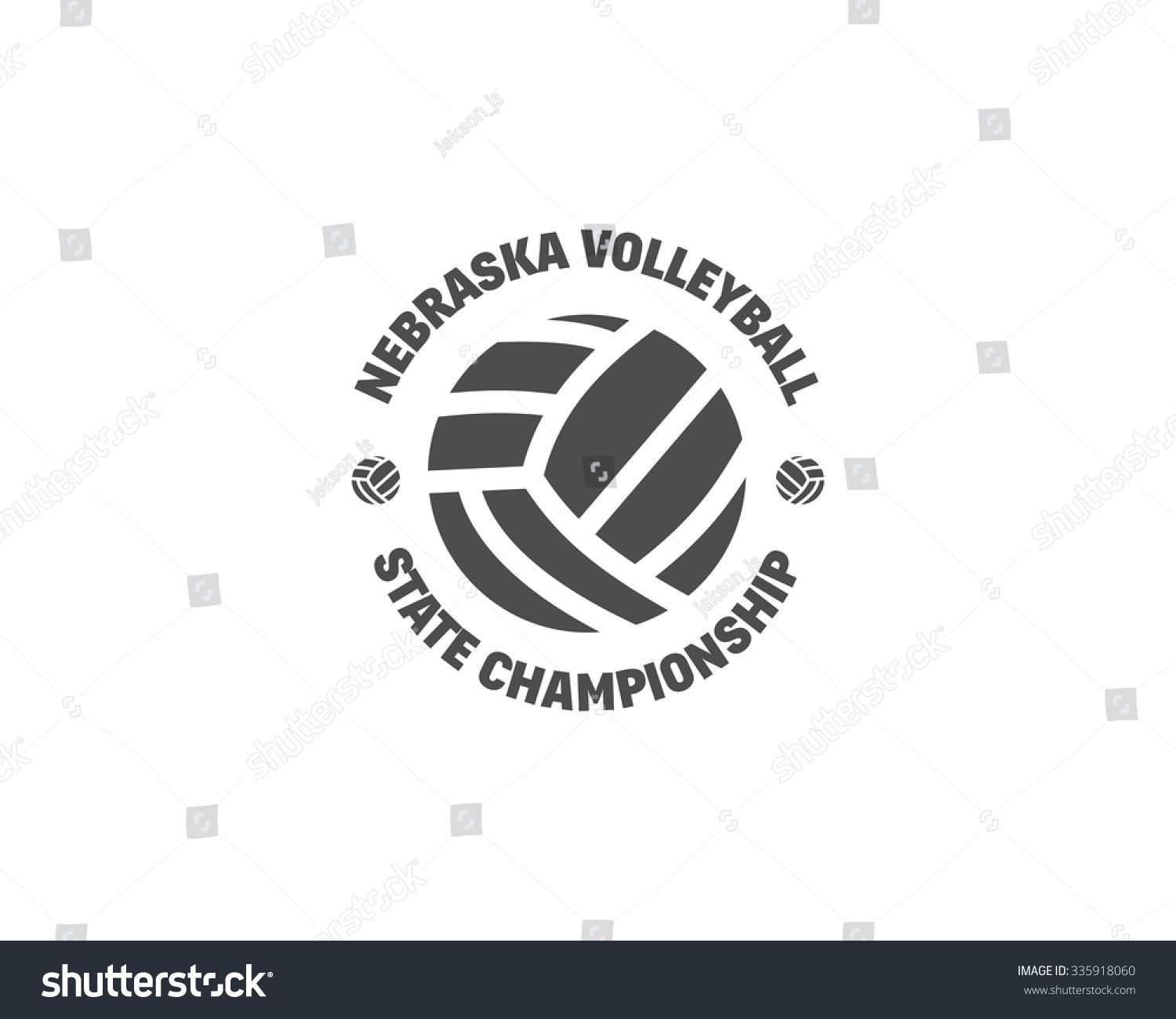 volleyball label badge logo icon sports stock vector 335918060