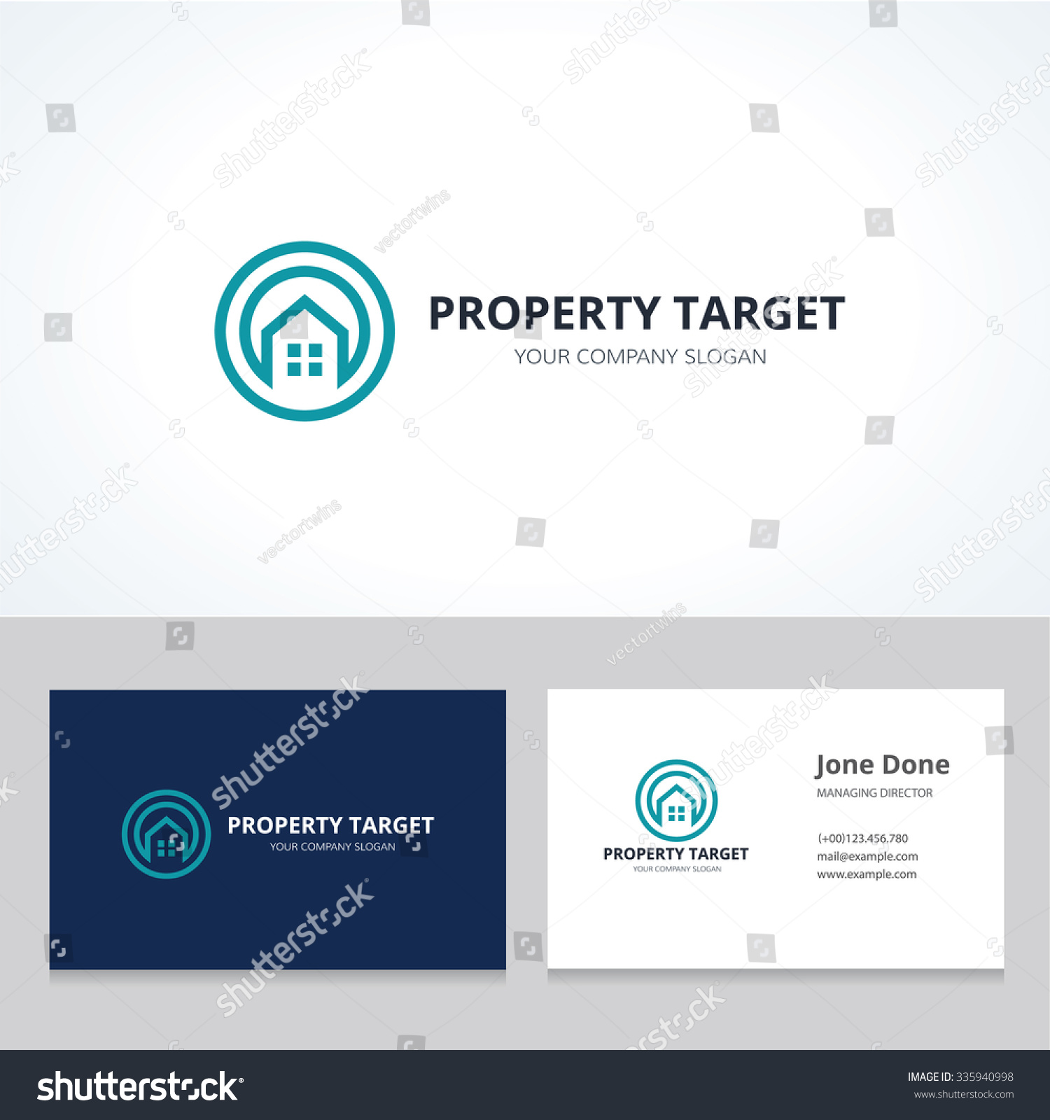 Property Target Real Estate Logo Business Stock Vector 335940998 ...