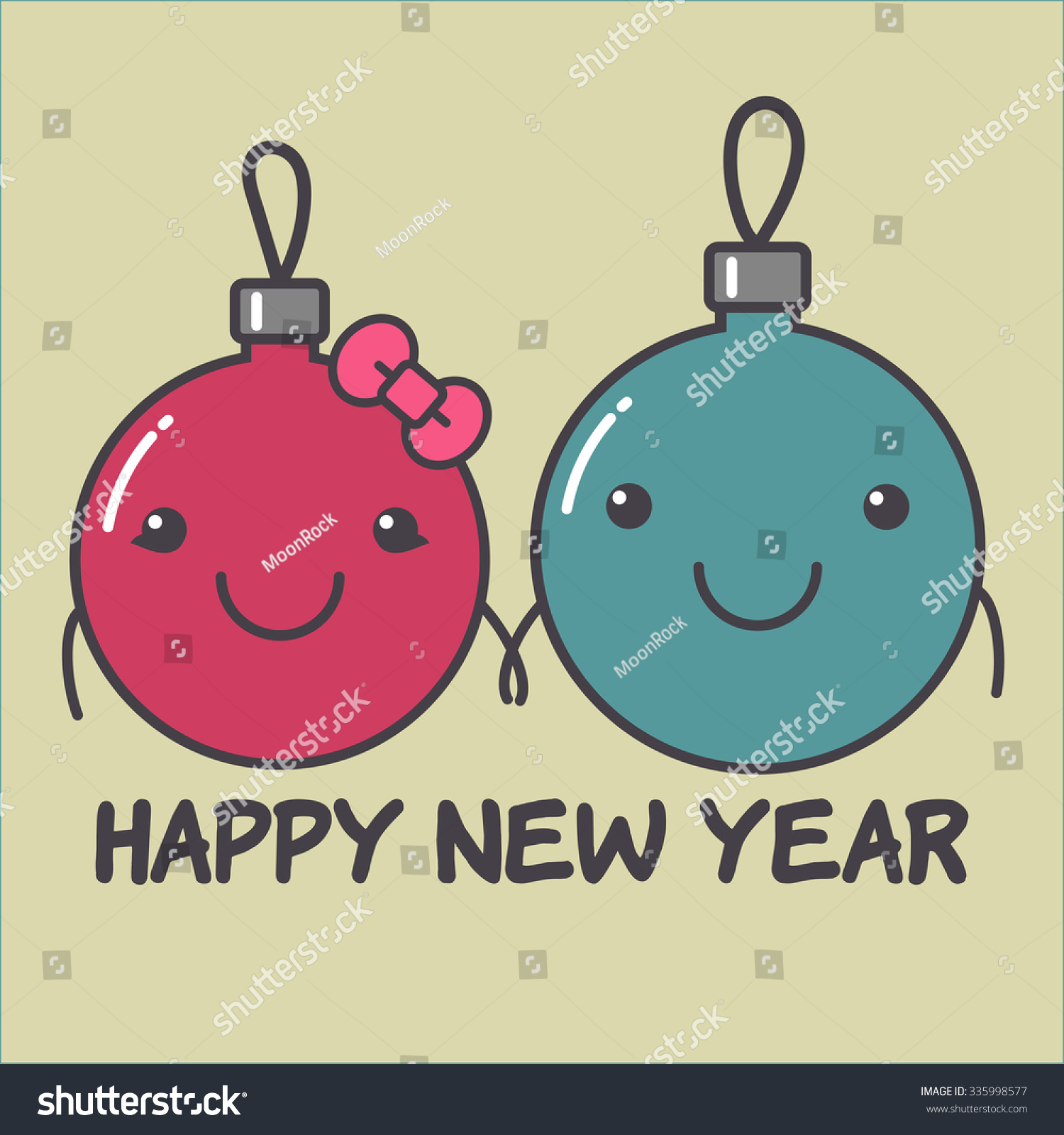 happy new year card girlfriend and boyfriend