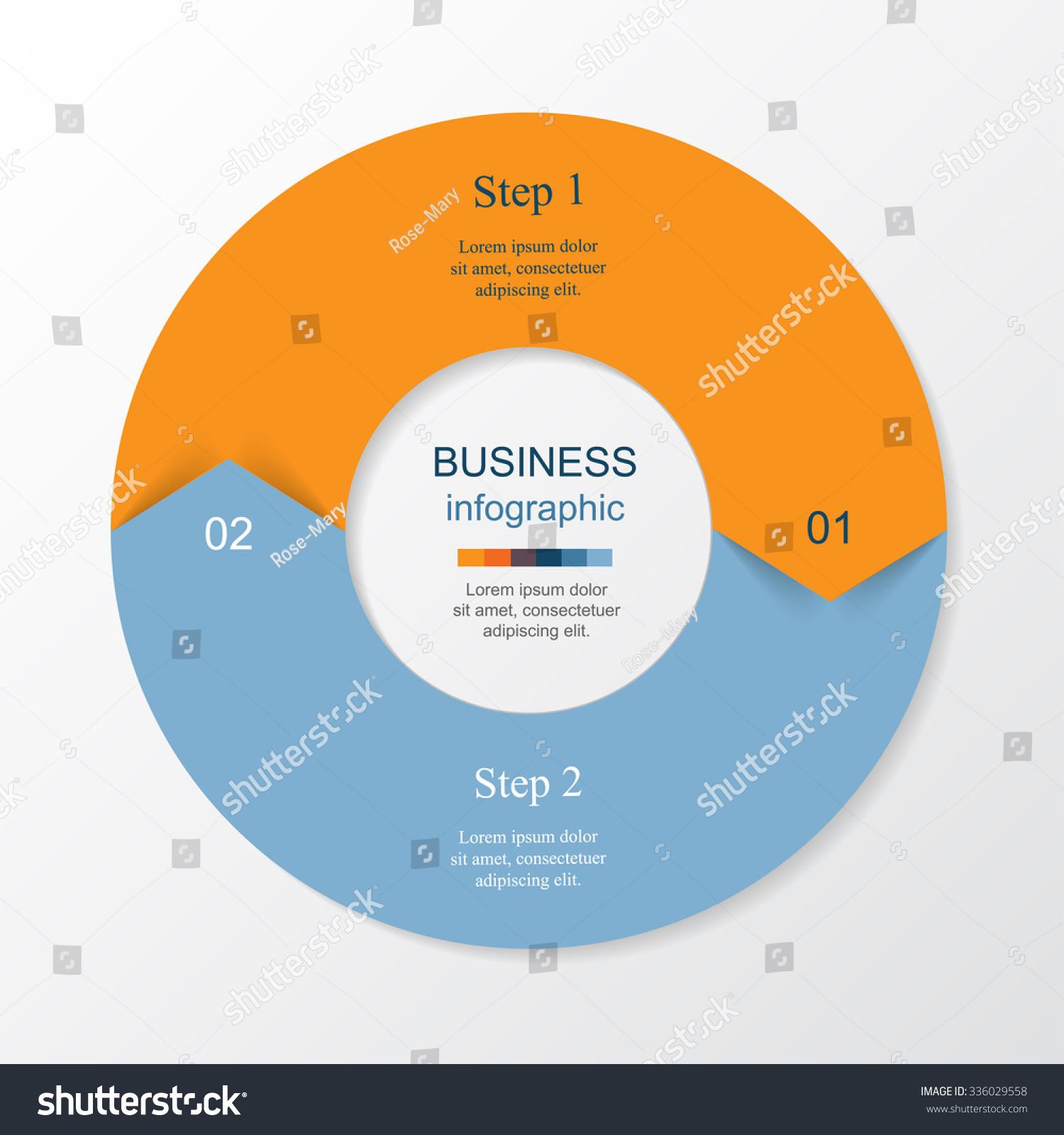 vector infographic round template diagram graph のベクター画像素材
