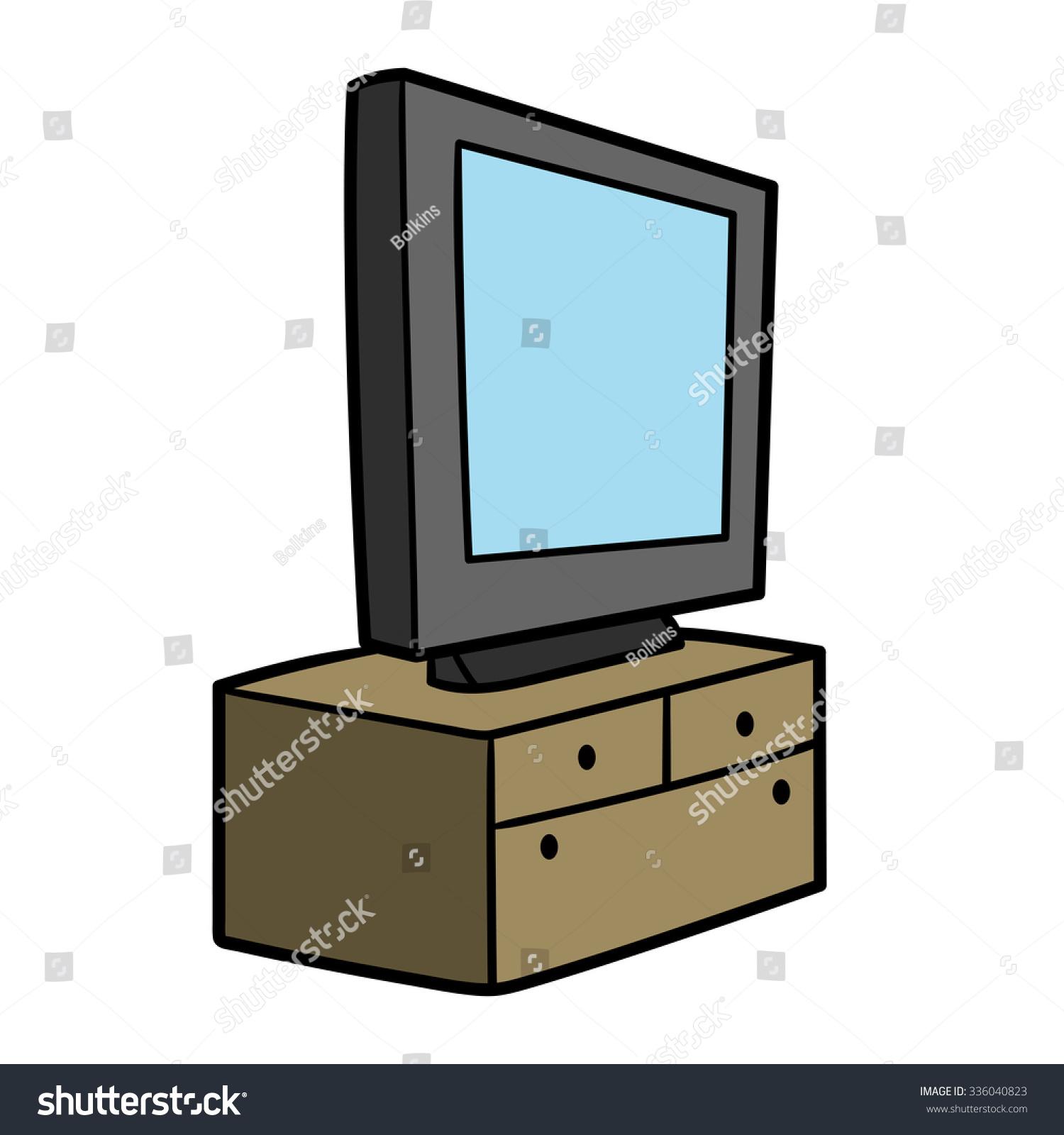 Tv On Commode Stock Vector 336040823 Shutterstock # Commode Tv But
