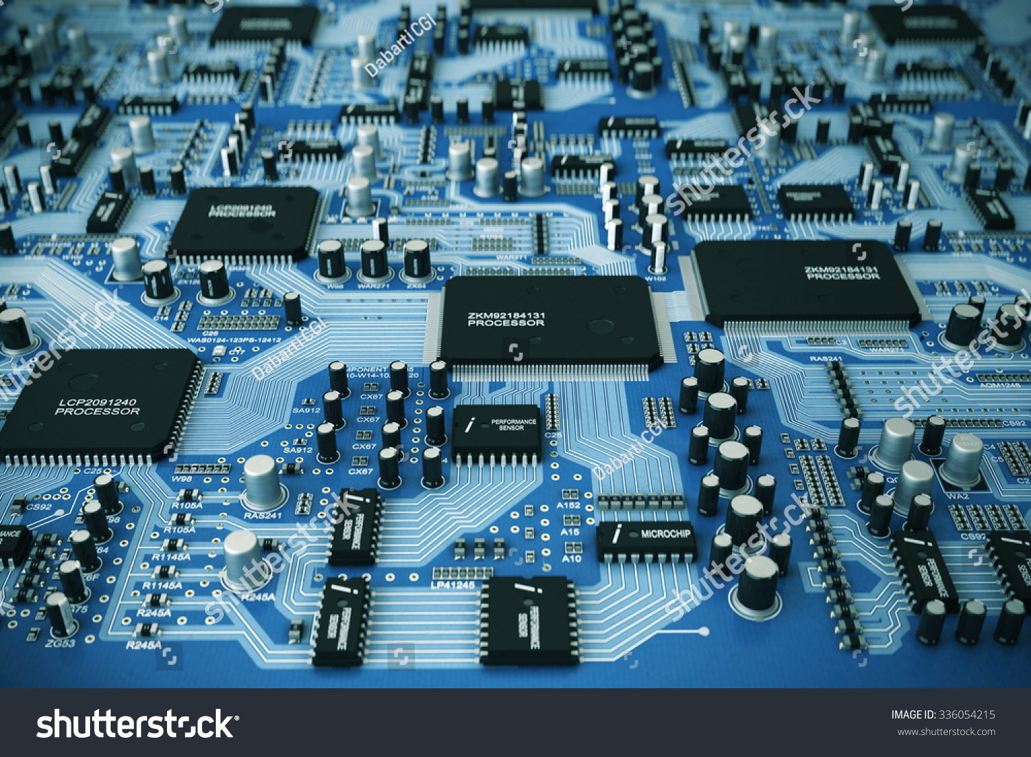 Shot Integrated Circuit Board Stock Illustration 336054215 Of