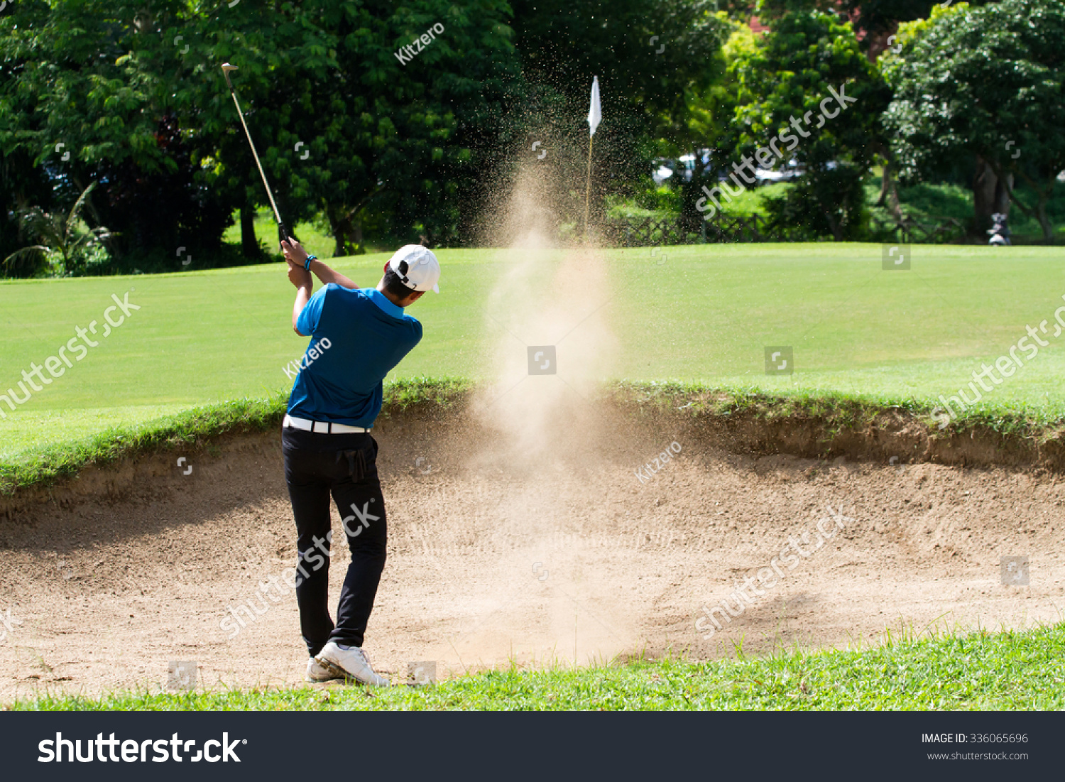 Thai Young Man Golf Player Action Stock Photo 336065696