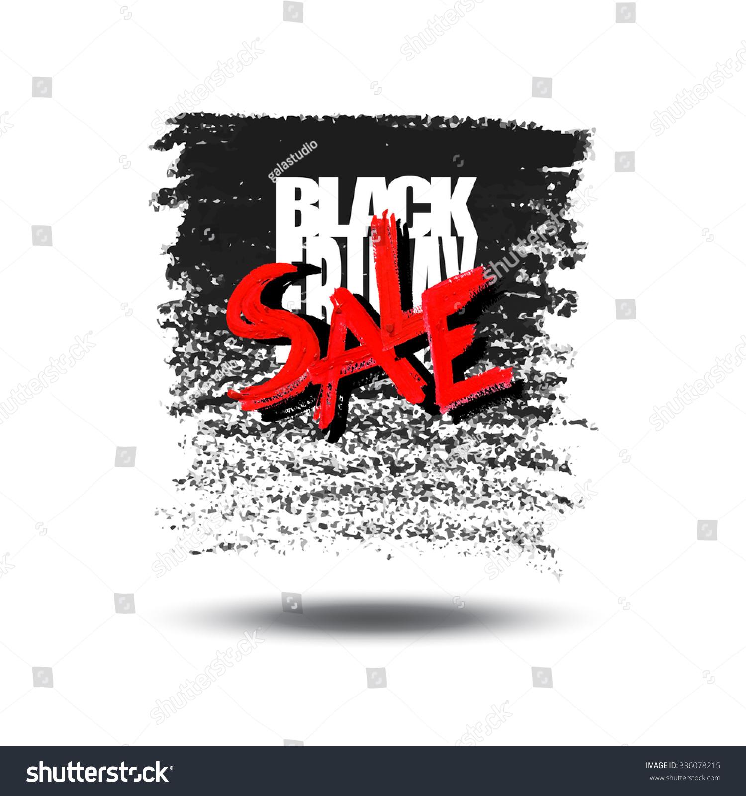 Black Friday Sale Card Banner Handmade Stock Vector Royalty Free