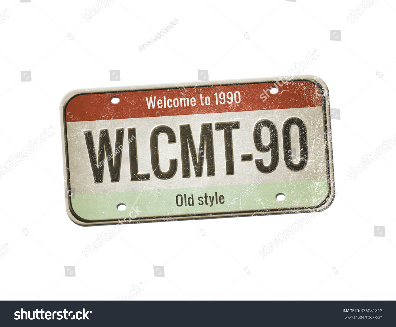 Old Plate Car Number License Plate Stock Illustration 336081818 ...