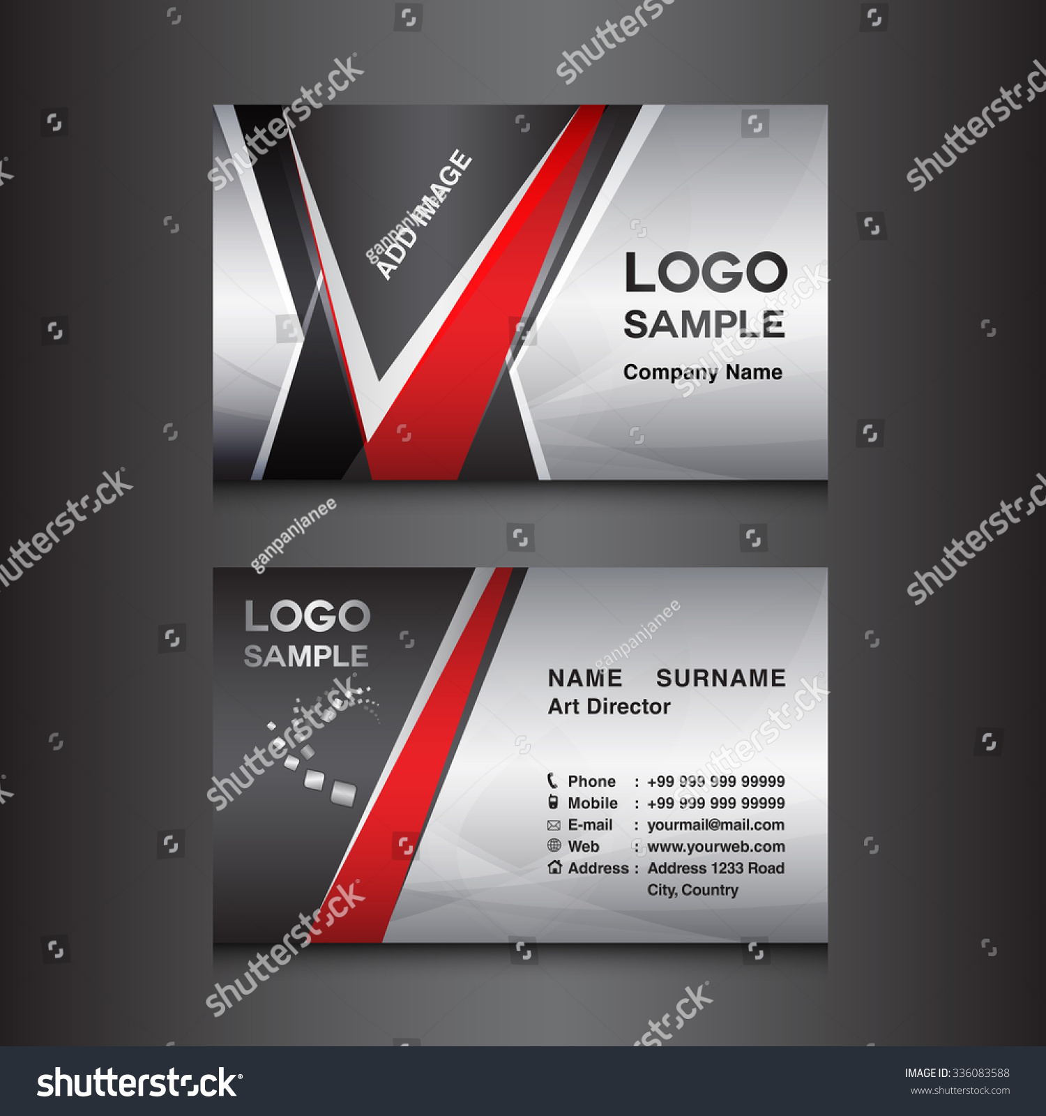 Silver black business card design template stock vector 336083588 silver and black business card design template magicingreecefo Choice Image