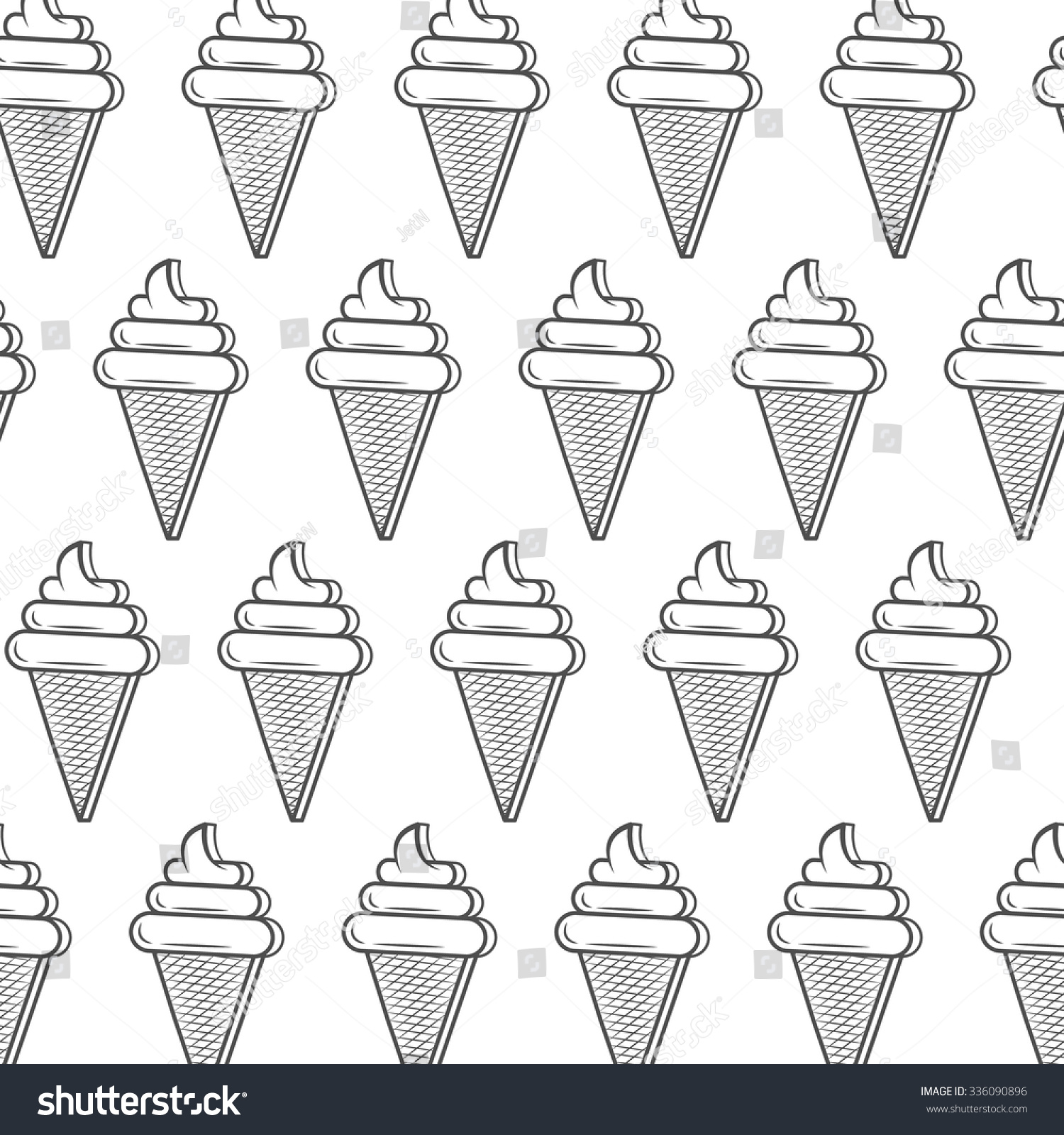 Monochrome ice cream cone seamless pattern stock vector royalty monochrome ice cream cone seamless pattern template for packaging paper cafe background or maxwellsz
