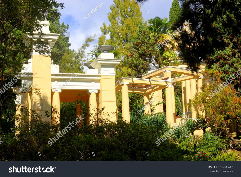 Greek Style Garden Design Summer House  Buildings/Landmarks Stock