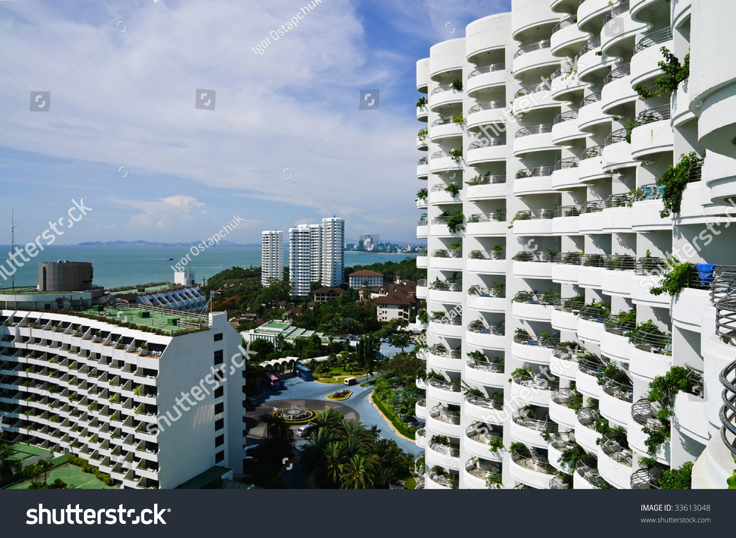 White hotel facade with balconies stock photo 33613048 for Hotels with balconies