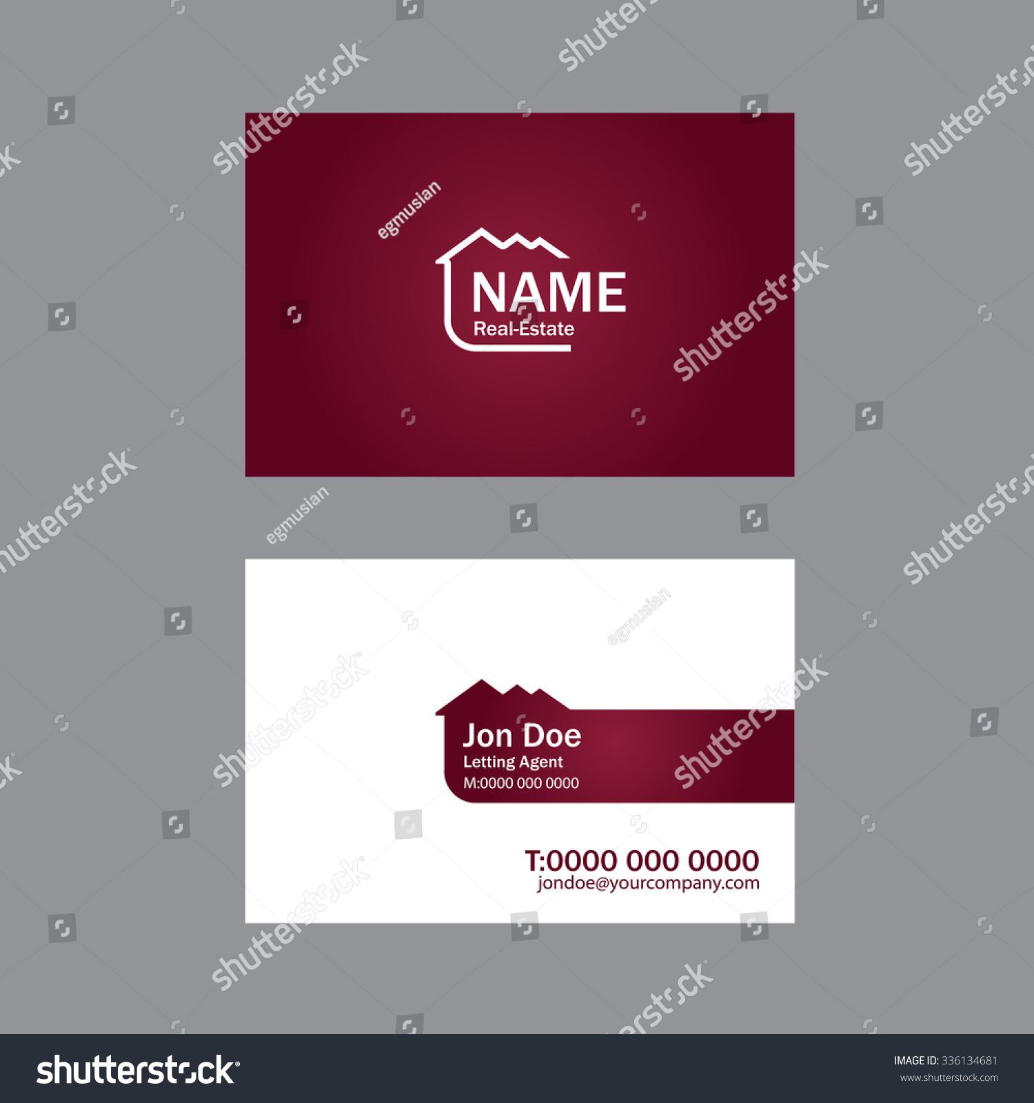 Vector business card realestate agencies stock vector 336134681 vector business card for real estate agencies magicingreecefo Image collections
