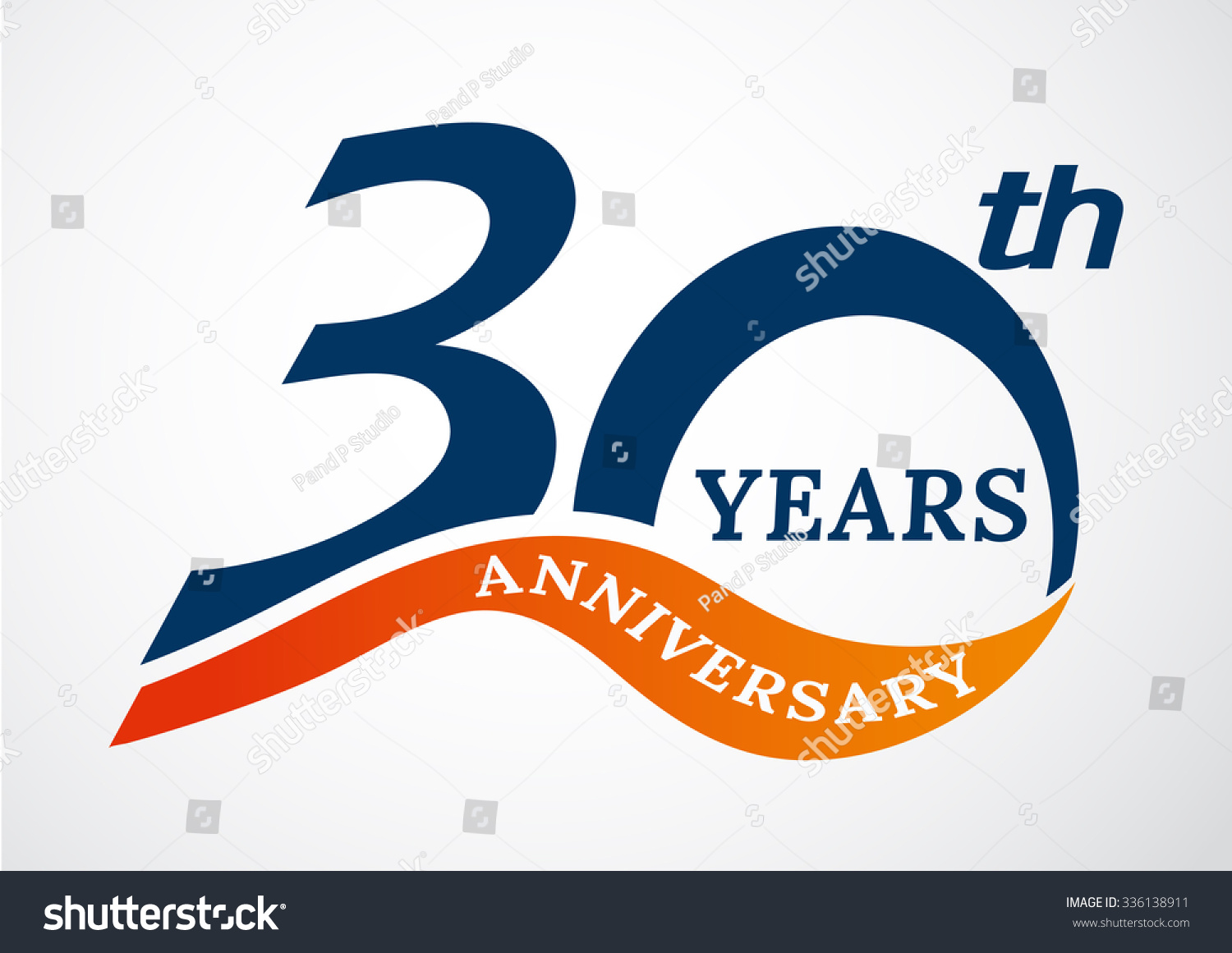 Template logo th anniversary years logovector stock vector hd