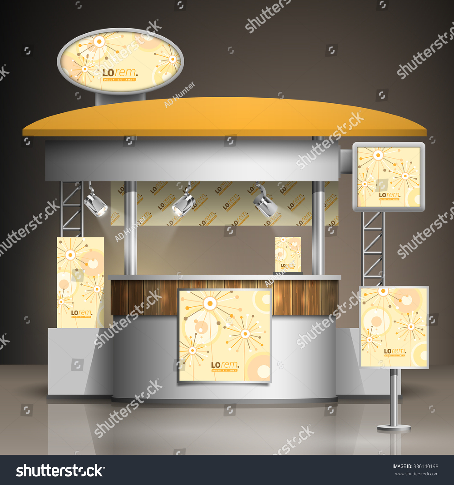 Exhibition Stand Elements : Vintage exhibition stand design creative flowers stock