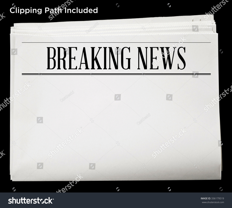 newspaper breaking news headline blank content stock photo (edit now