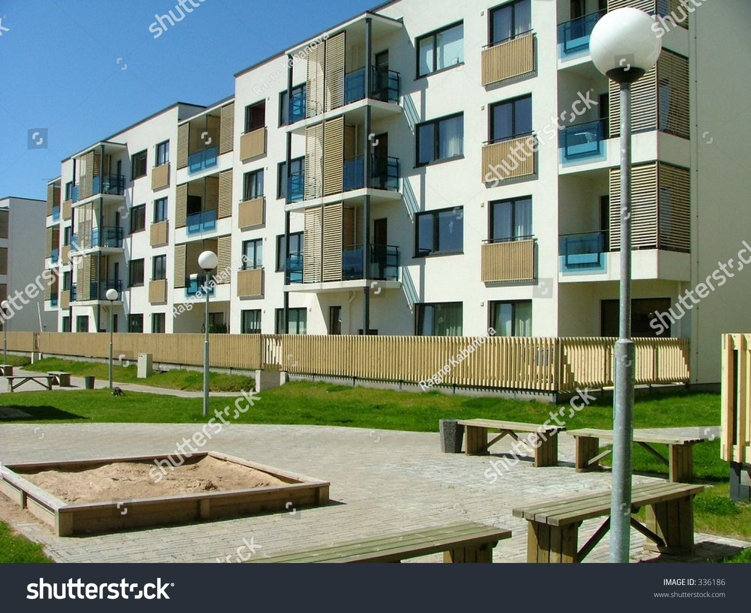 Apartment Houses Row Nice Looking Apartment Houses Stock Photo 336186  Shutterstock