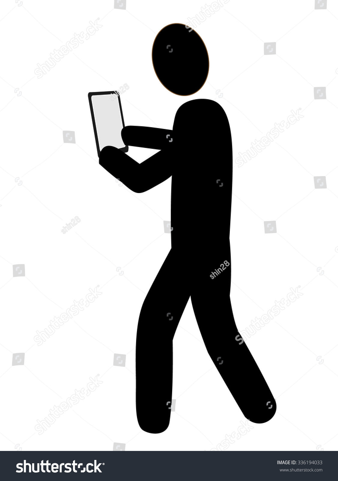 Icon Person Who Walks While Looking Stock Vector 336194033 ...