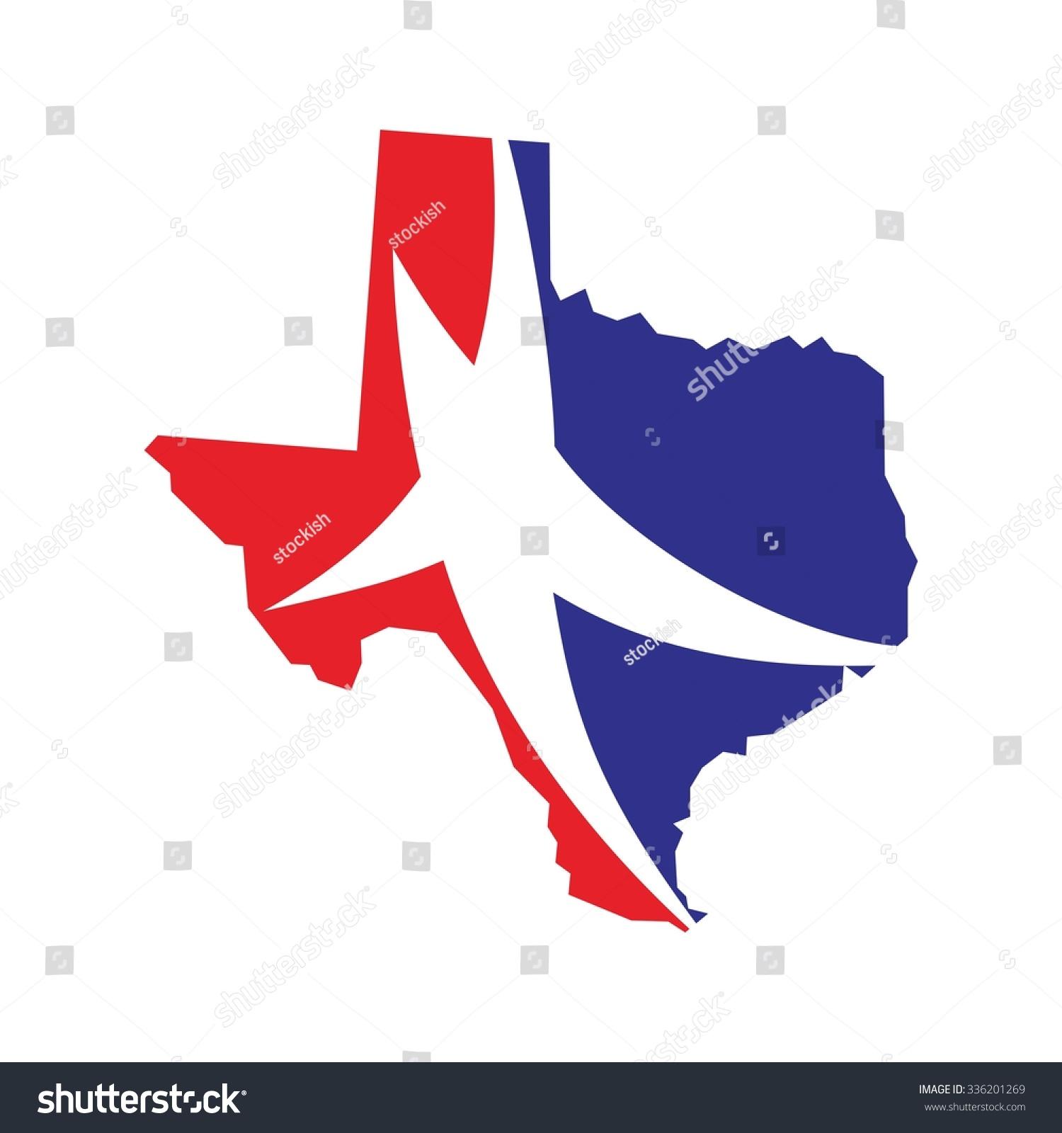 Texas Template | Texas Vector Logo Texas Map Lone Stock Vektorgrafik Lizenzfrei