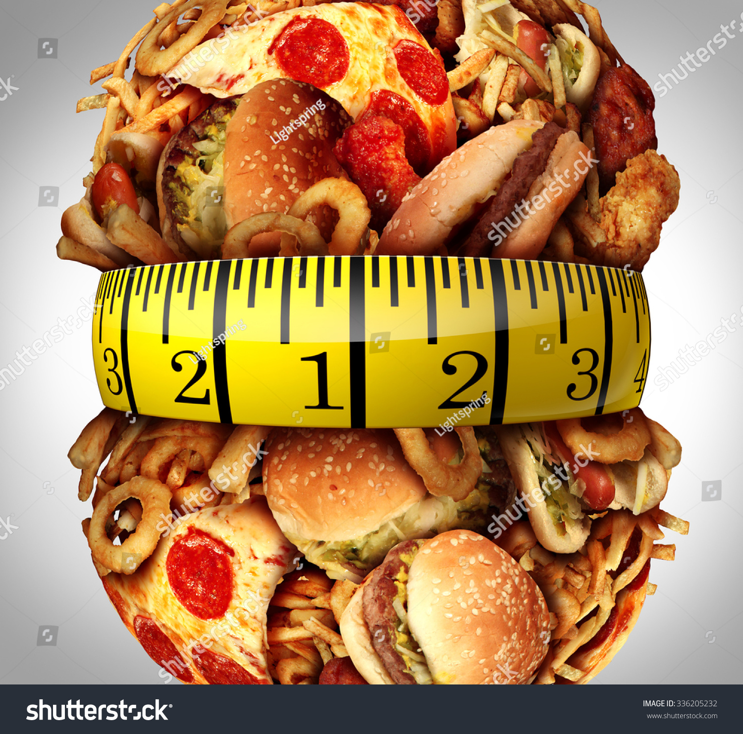Obesity Or Fast Food And Disease And Children