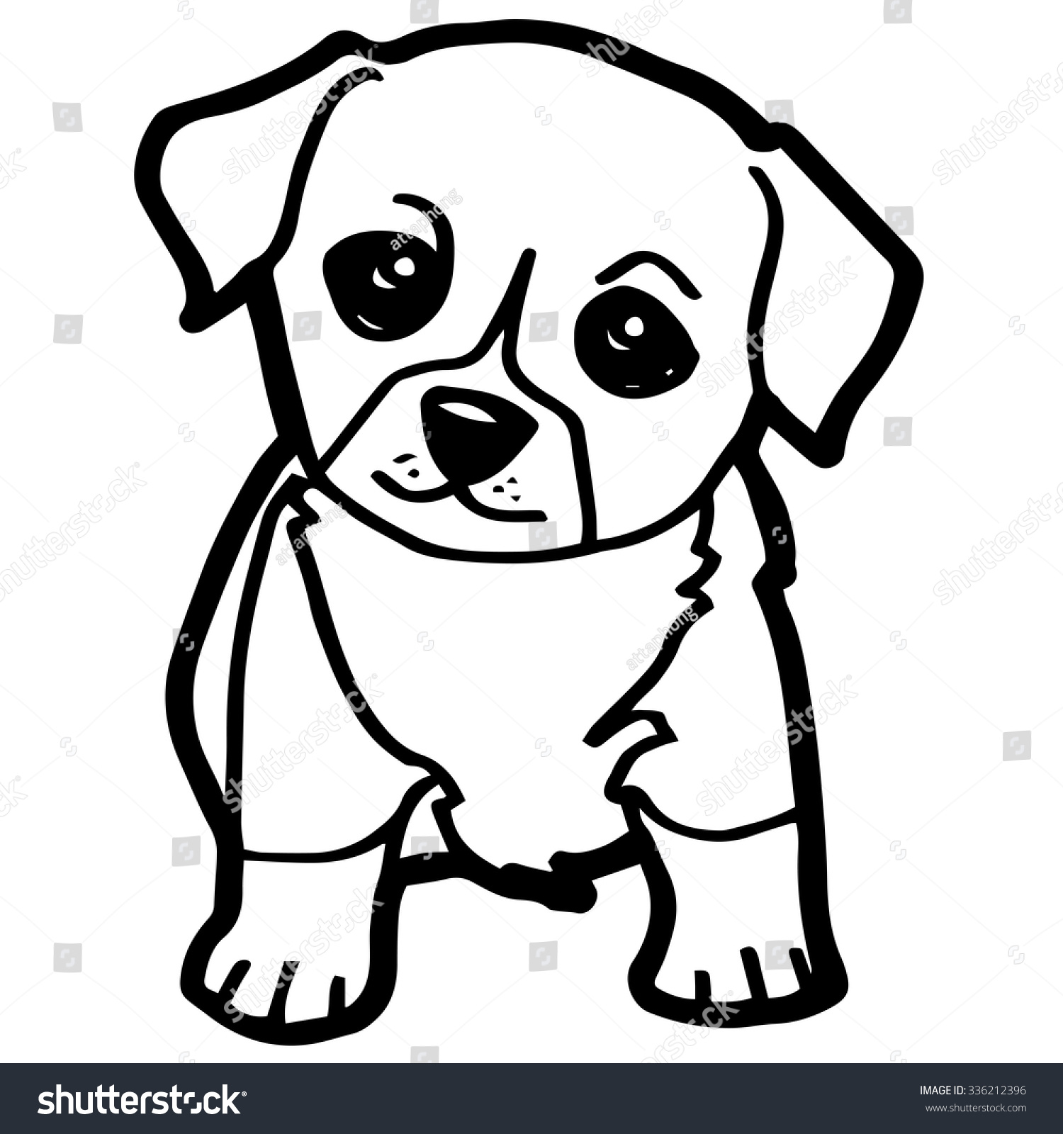 Sweet Cartoon Dogs Coloring Pages