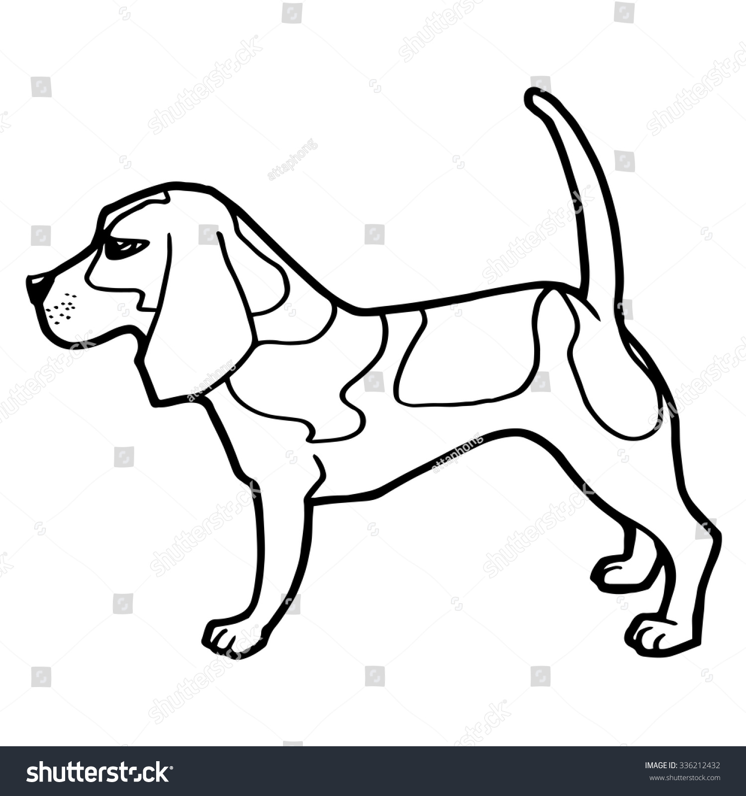dog coloring book vector stock vector 336212432 shutterstock