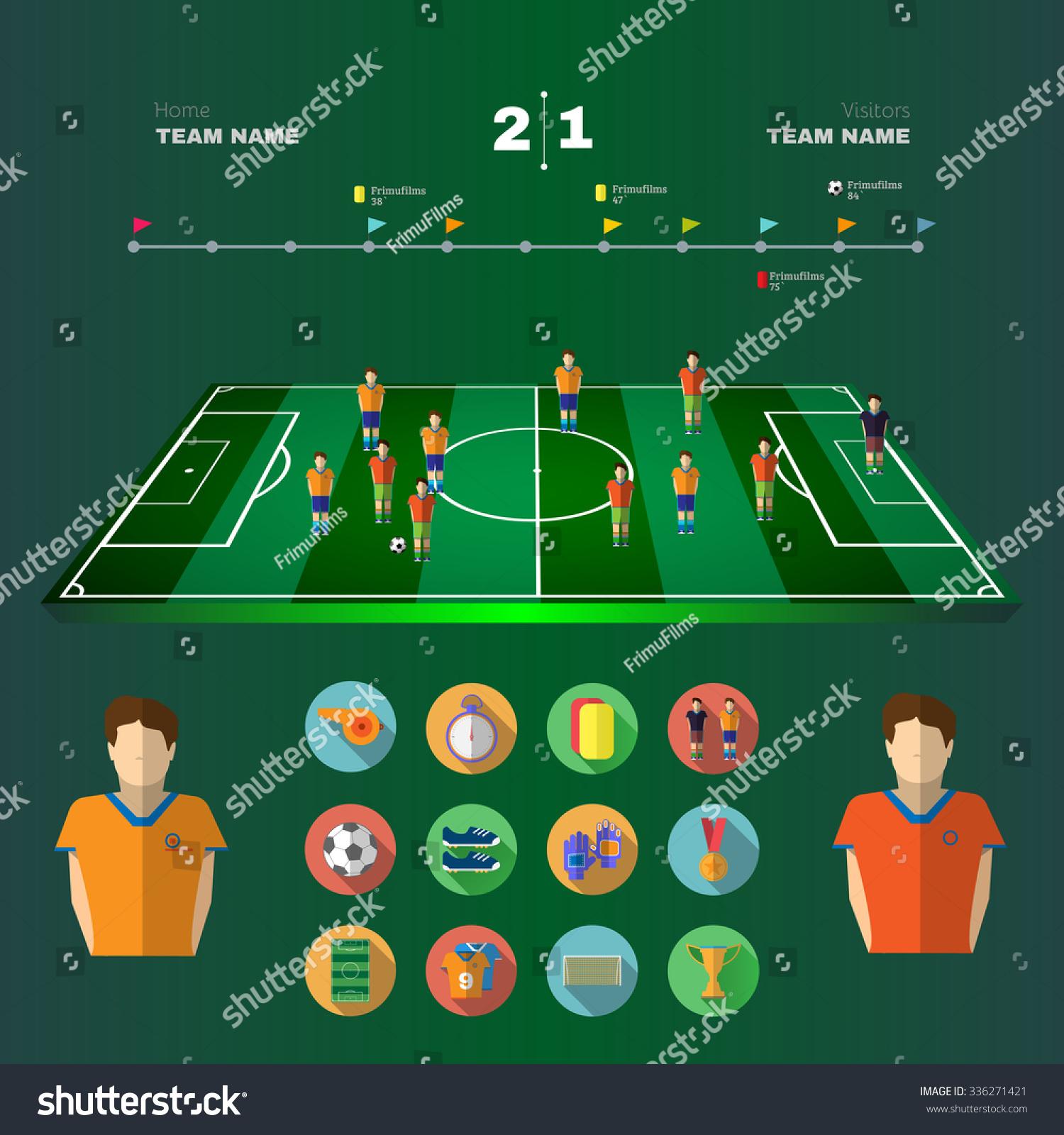 soccer 3d stadium game field strategic stock vector 336271421