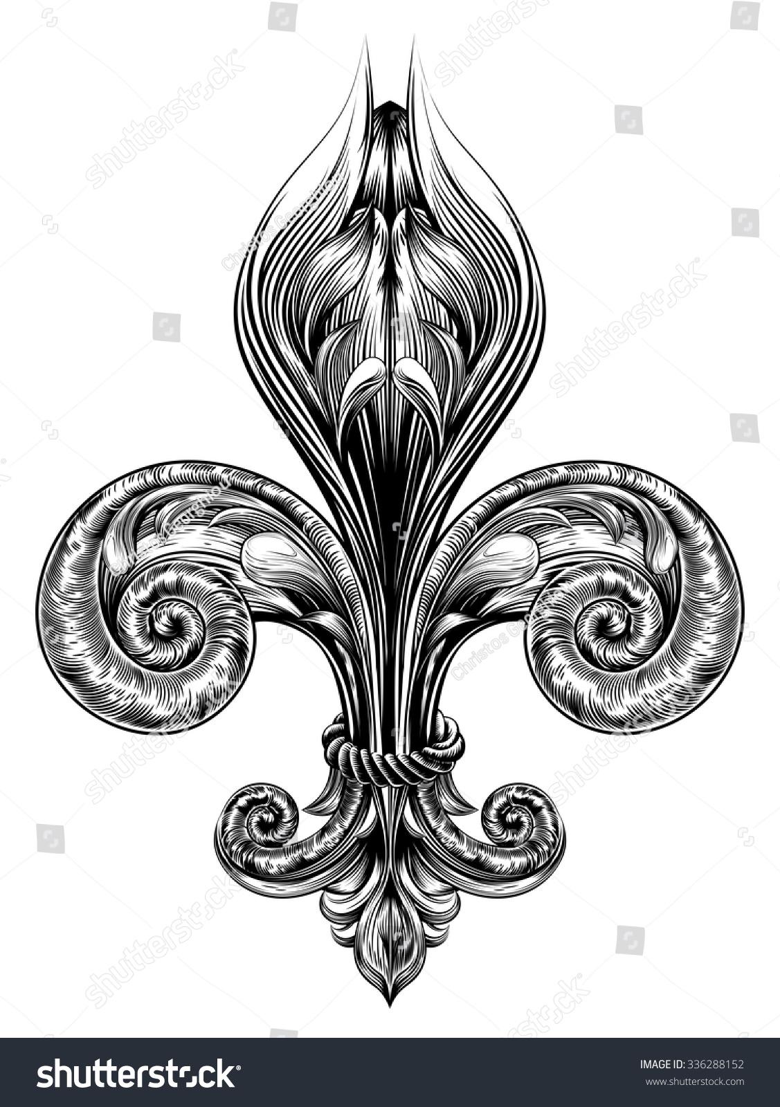 Fleur De Lis Decorative Design Element Stock Vector Royalty Free