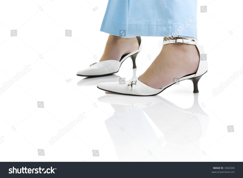 Woman Legs Beautiful White Shoes Stock Shutterstock