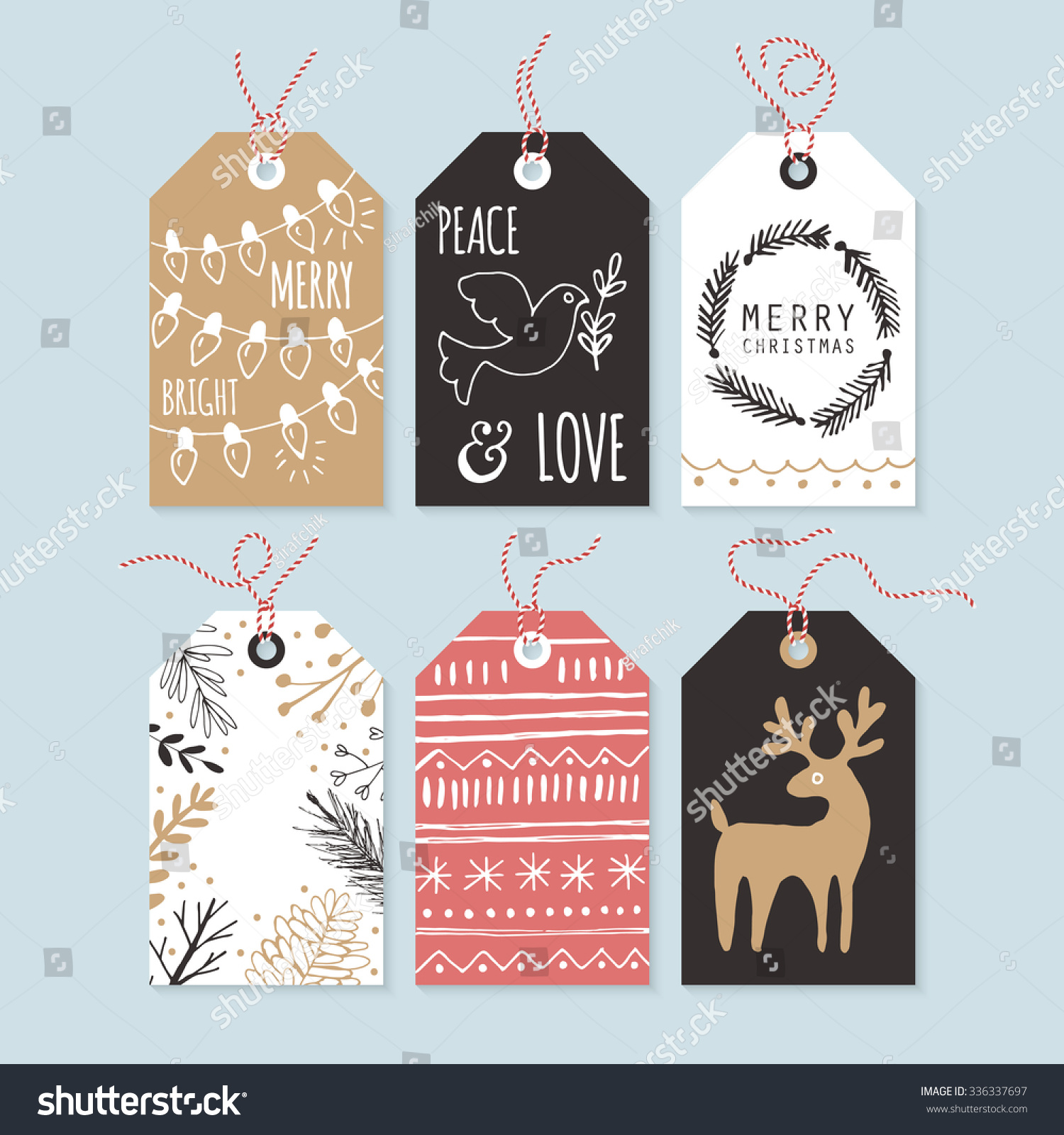 Modern christmas gift tags hand drawing stock vector 336337697 modern christmas gift tags with hand drawing elements vector illustration negle Image collections