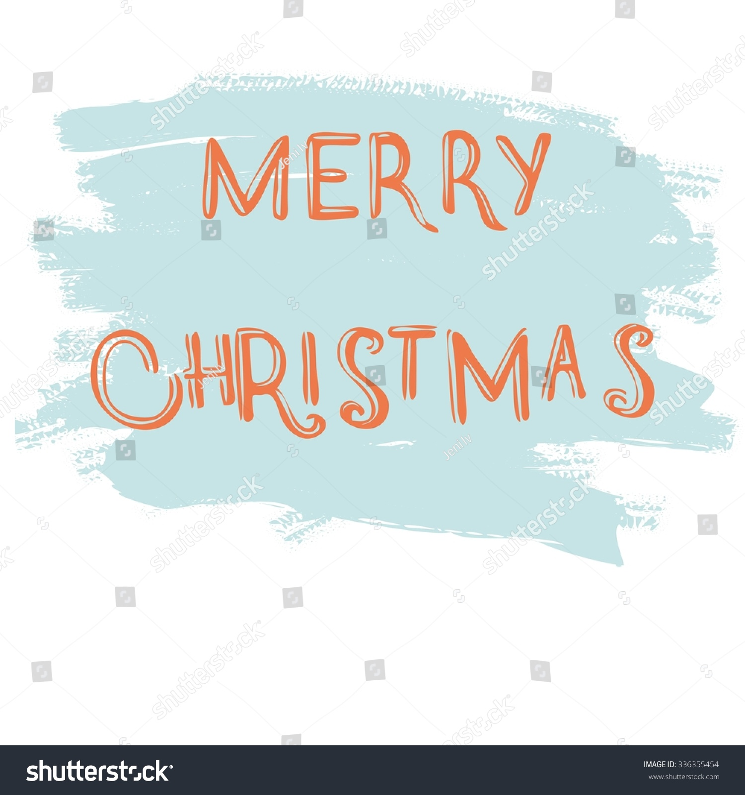 Merry Christmas Words Greeting Cards Cards Stock Vector 336355454