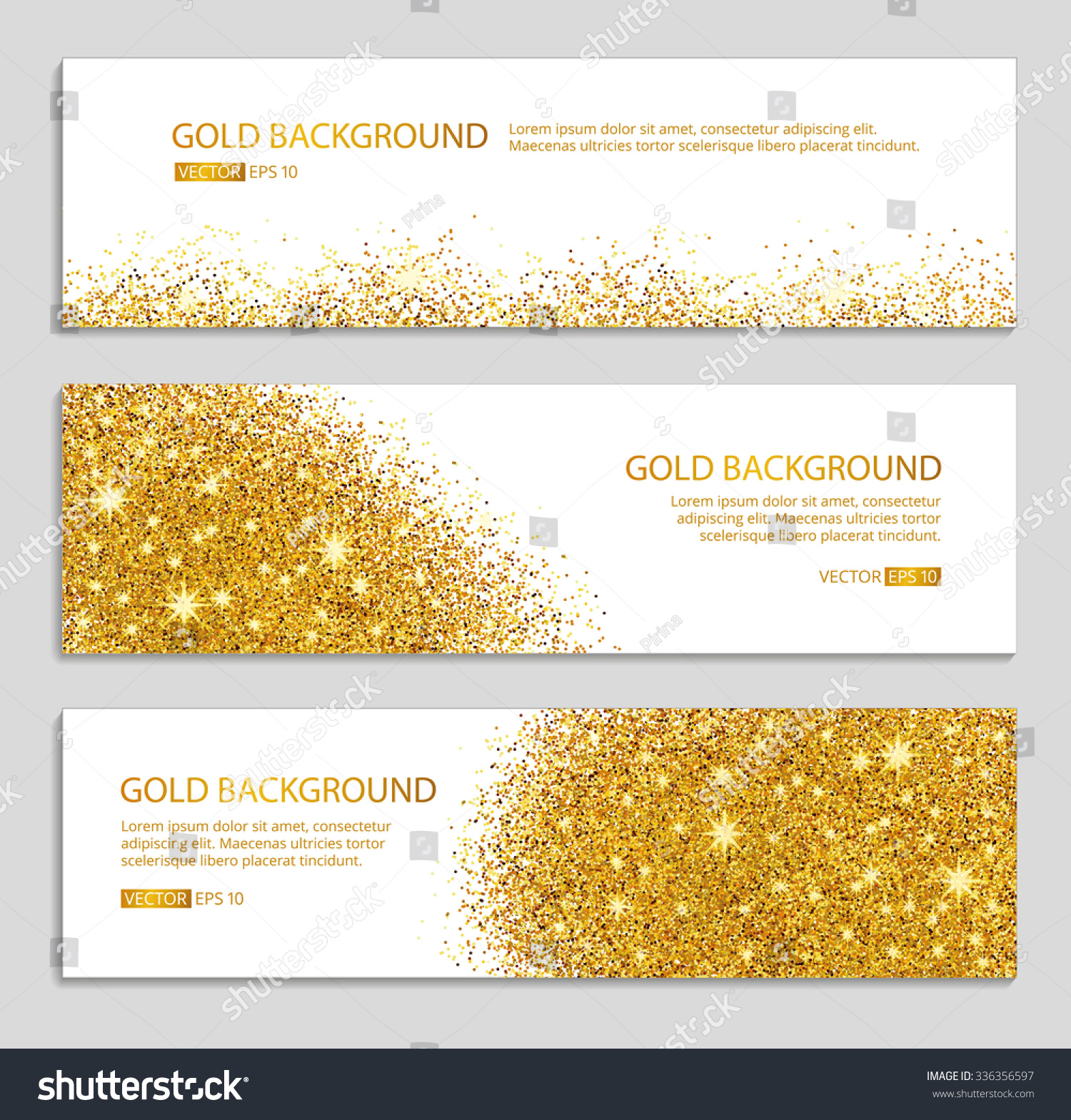 Abstract gold background gold background for card gold glitter gold - Gold Sparkles On White Background Banners Stock Vector
