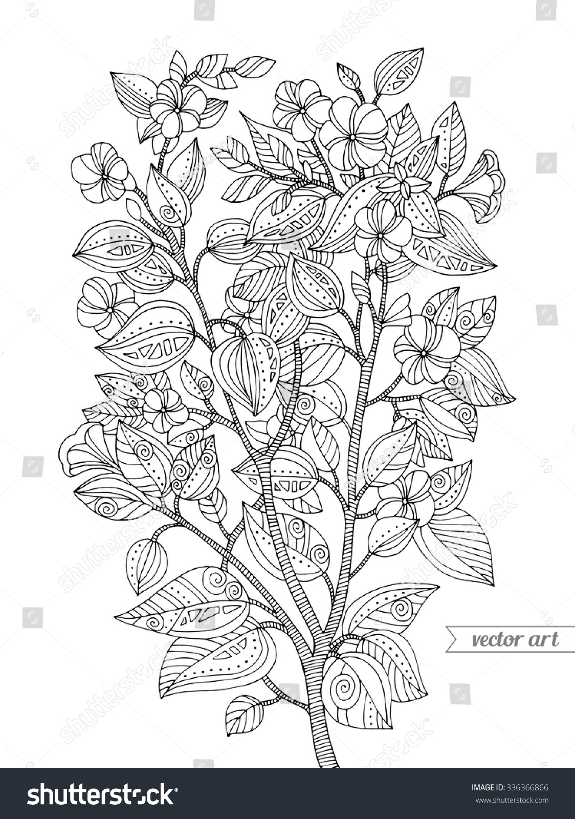 royalty free forest exotic jungle flowers plant u2026 336366866 stock