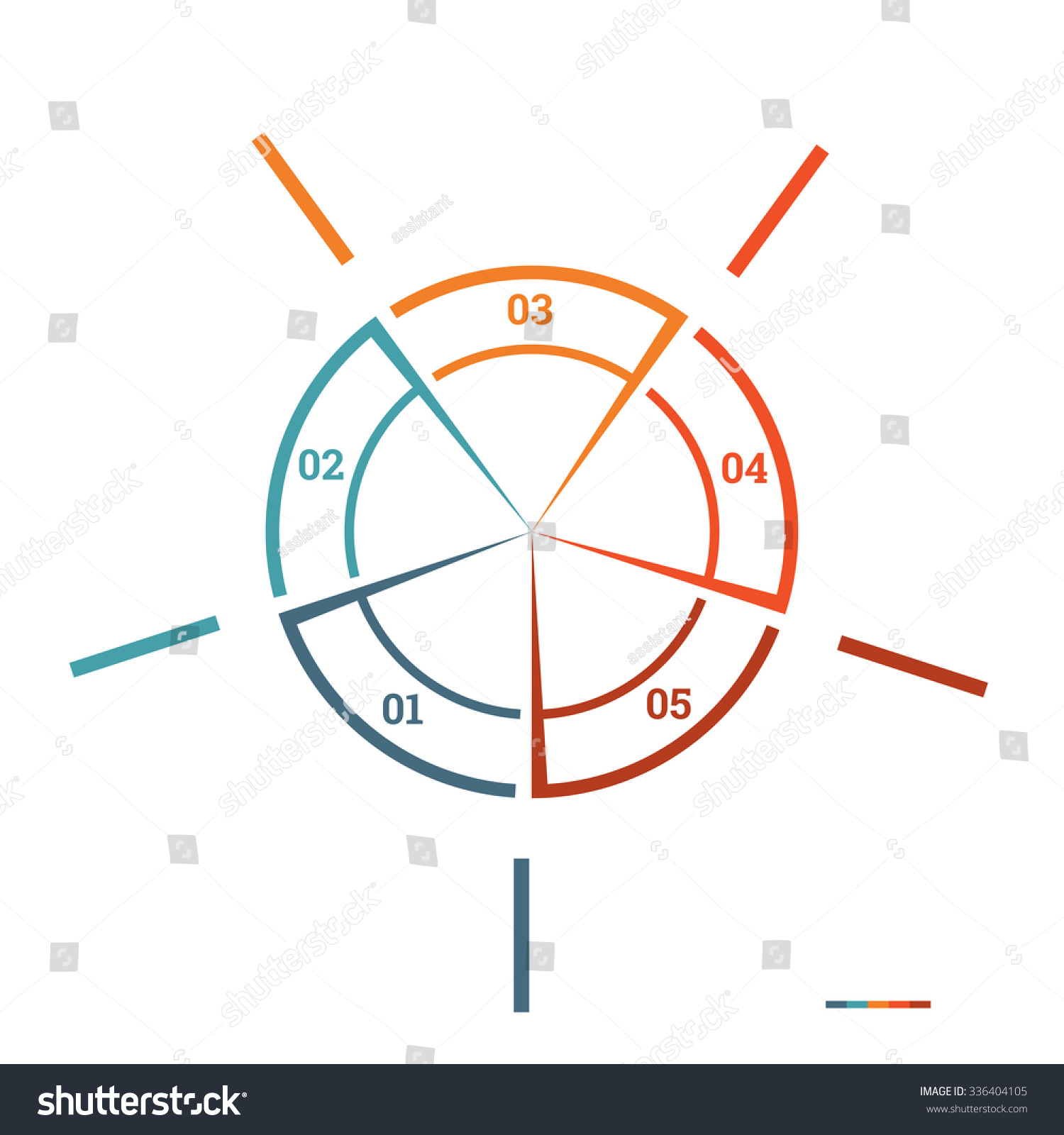 Infographic pie chart template colourful circle stock illustration infographic pie chart template colourful circle from lines with text areas on 7 positions for workflow nvjuhfo Choice Image