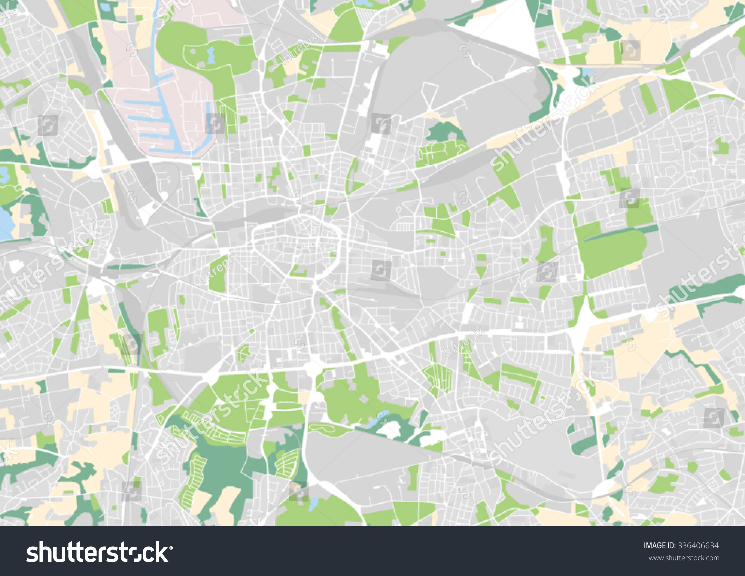 vector city map of dortmund germany