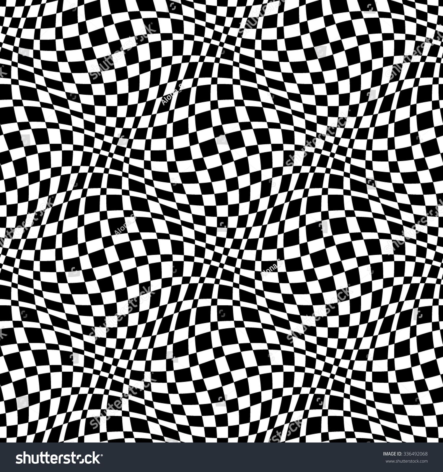 Checkered Seamless Pattern 3d Black White Stock Vector
