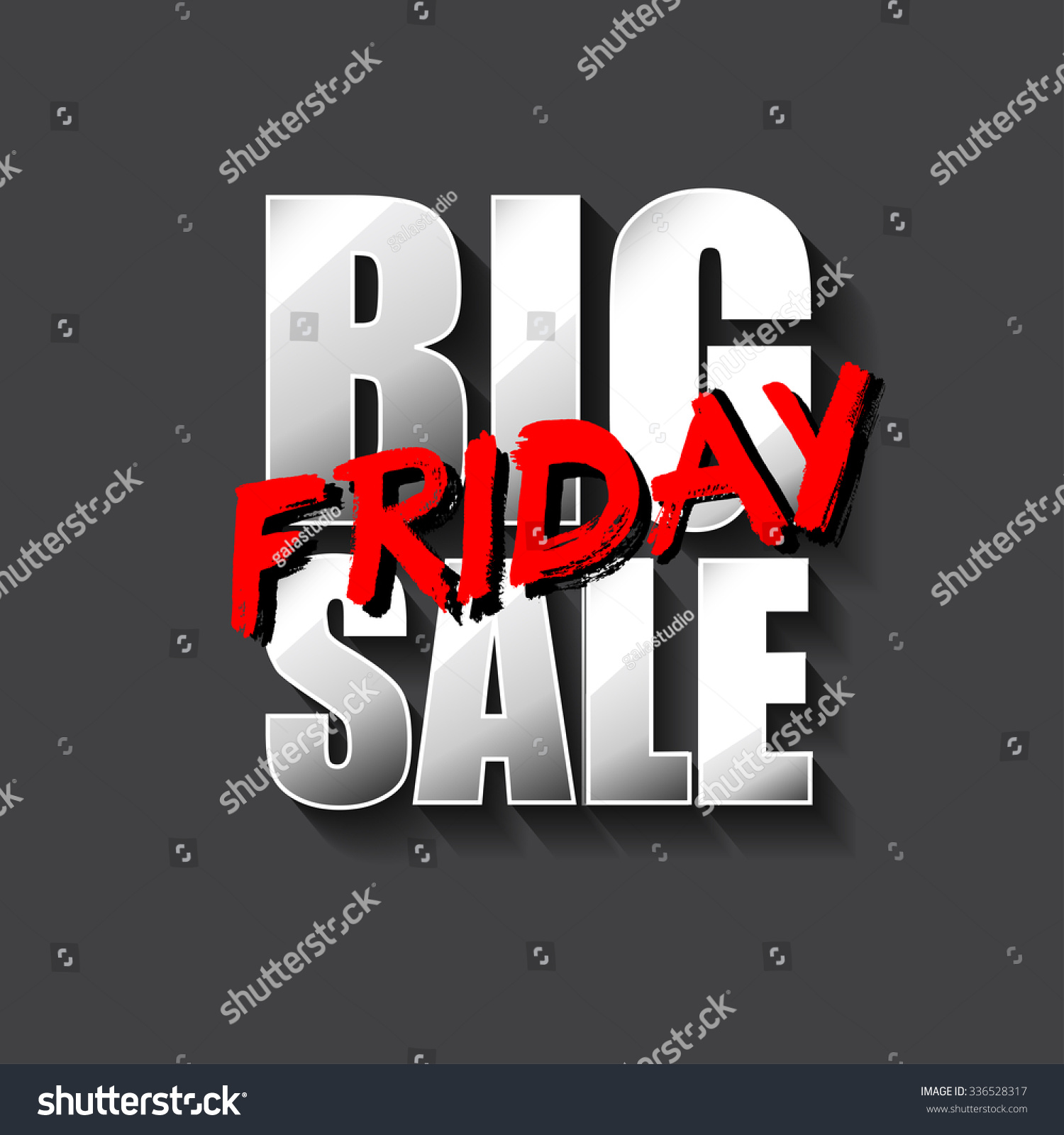 Black Friday Sale Card Banner Perfect Stock Vector 336528317