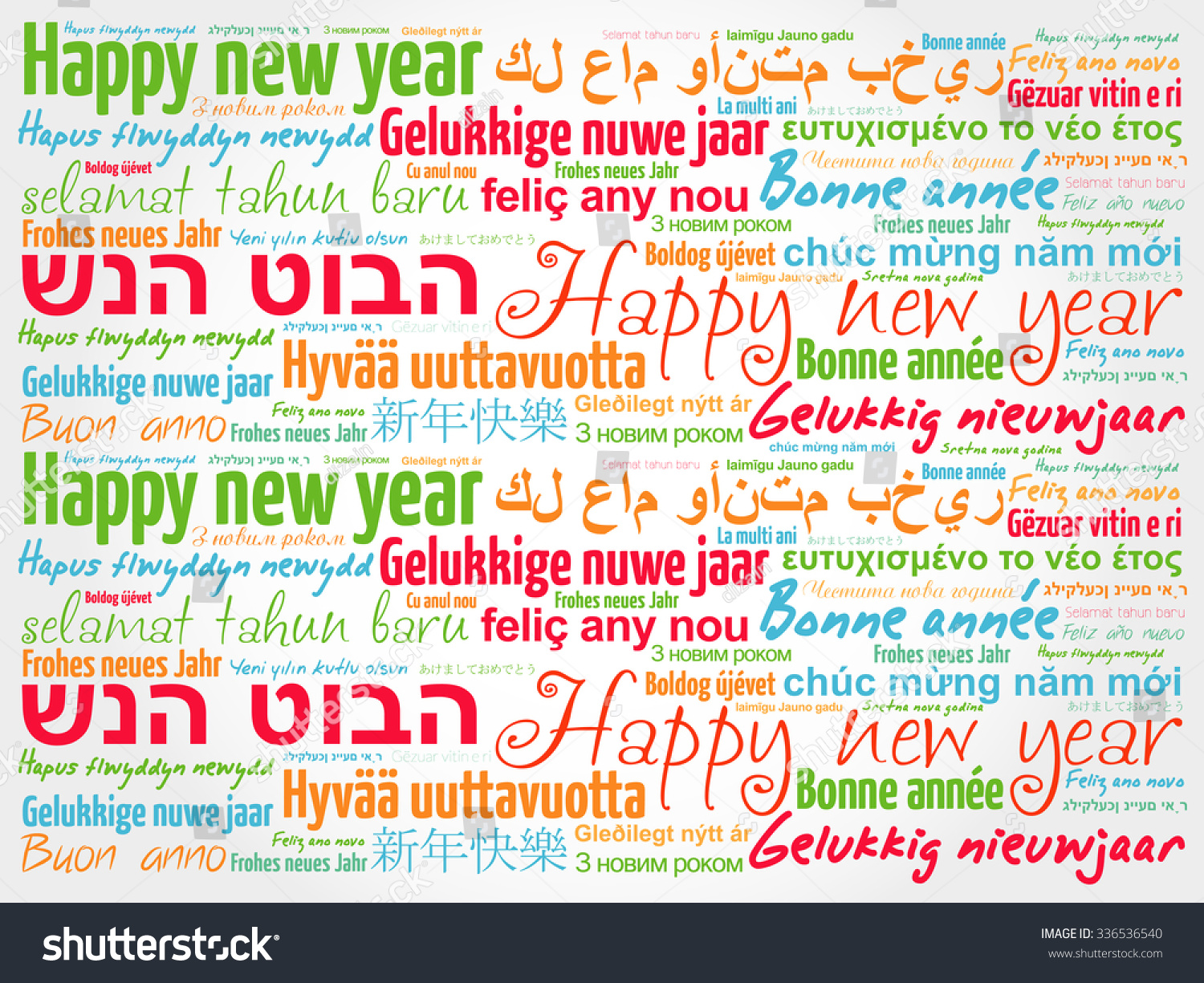 Happy Holidays Word Cloud Collage Good Wishes Vector Illustration