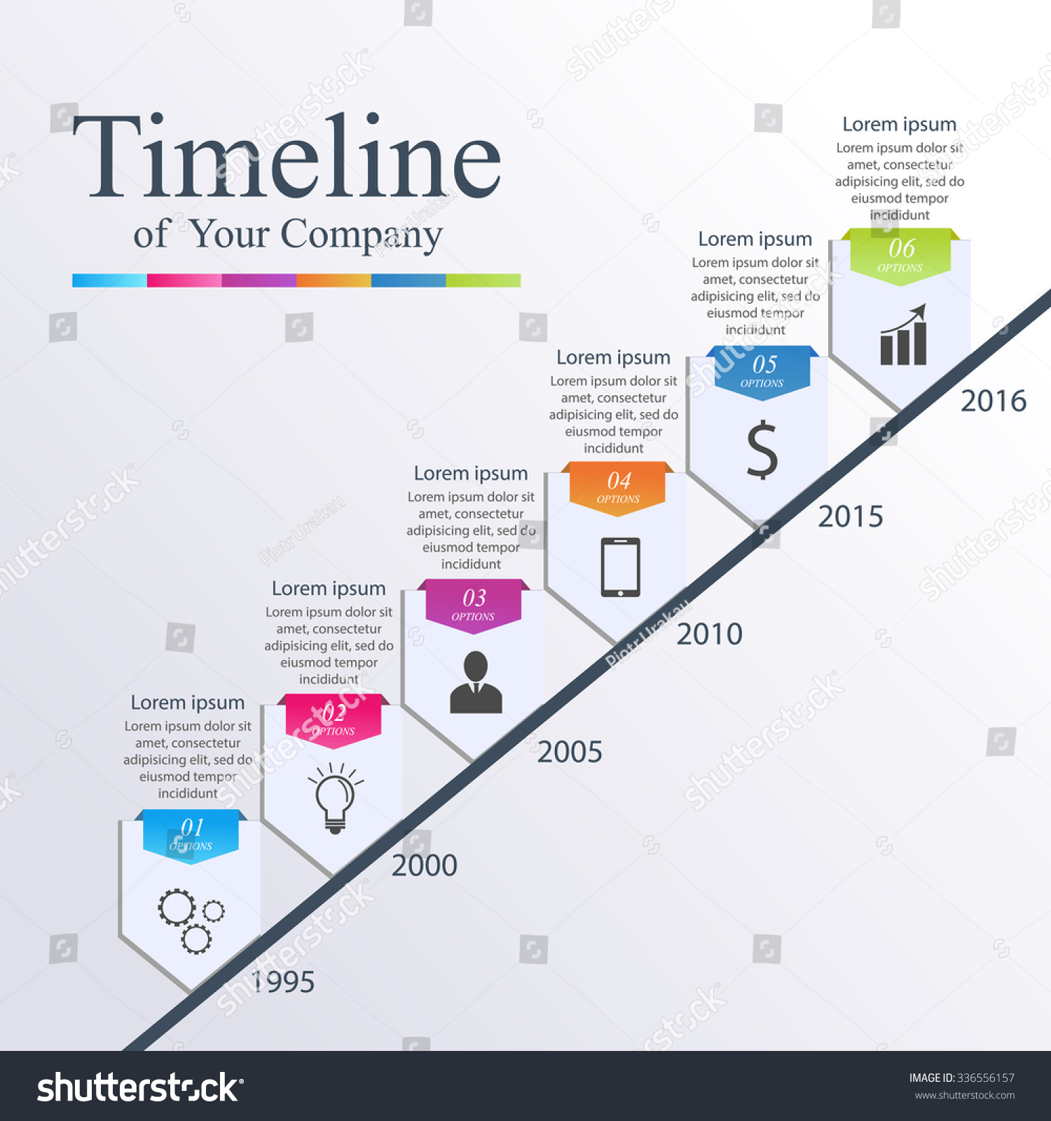 Timeline Infographic Vector Design Illustration Template Stock ...