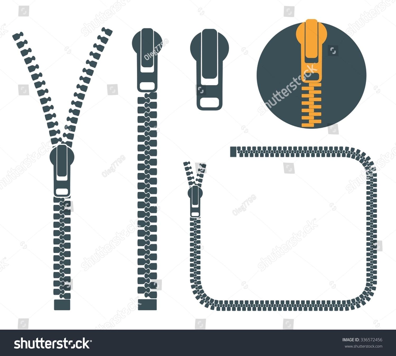Zipper Icon Set Abstra...
