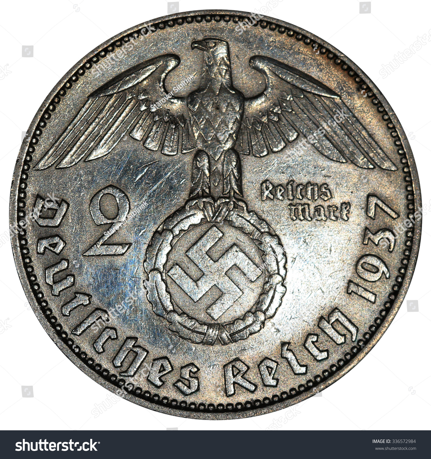Coins Germany 2 Reichsmark 1937 German Stock Photo Edit Now
