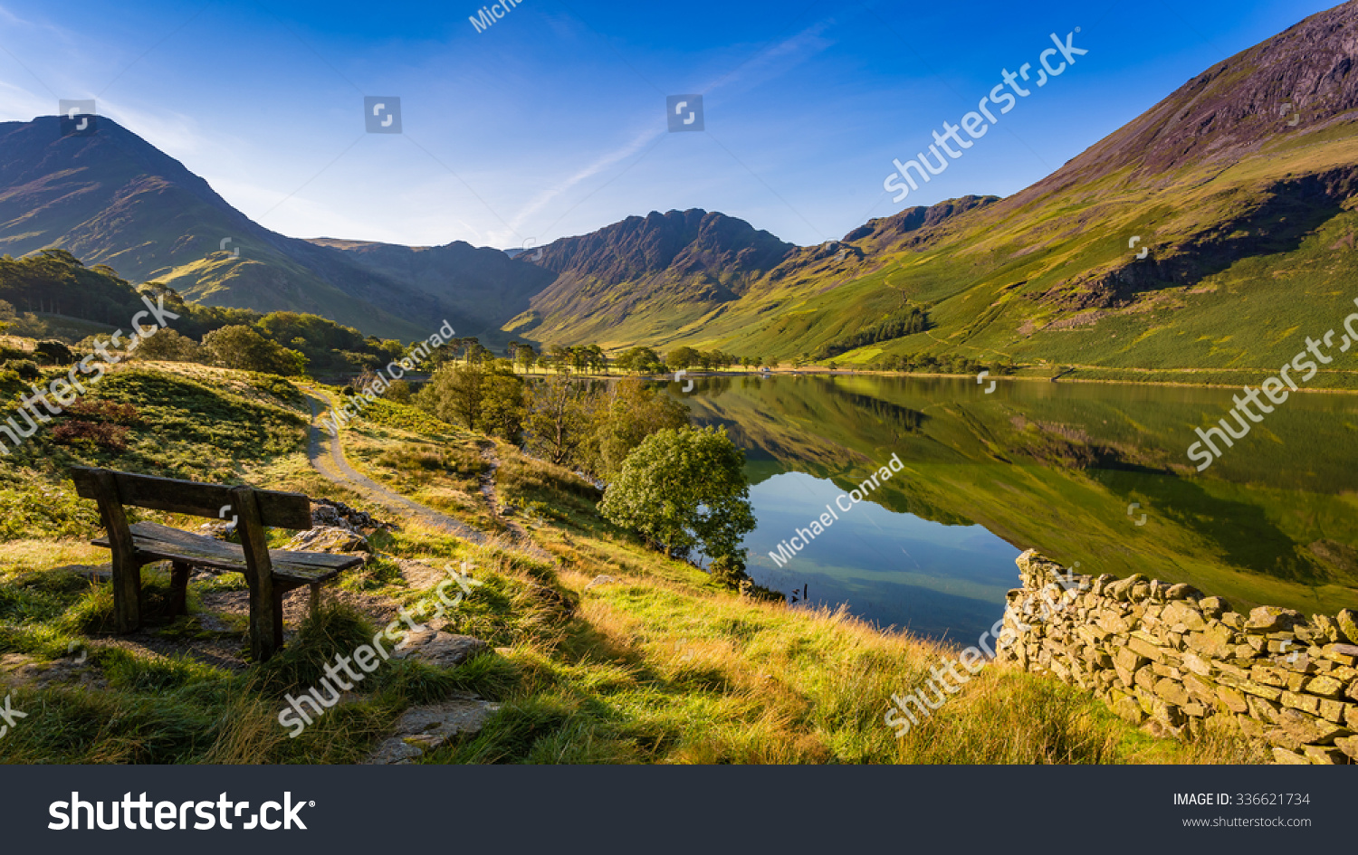 Early morning at Buttermere, The Lake District, Cumbria, England #336621734