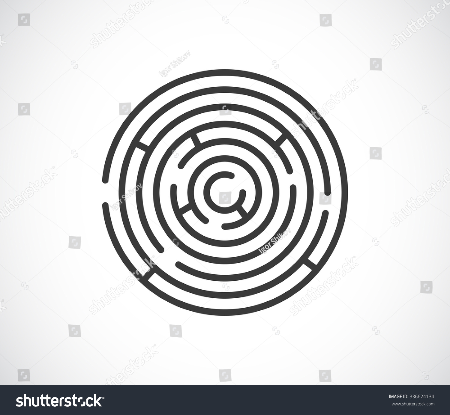 maze labyrinth abstract icon logo stock-vektorgrafik 336624134, Gartengerate ideen