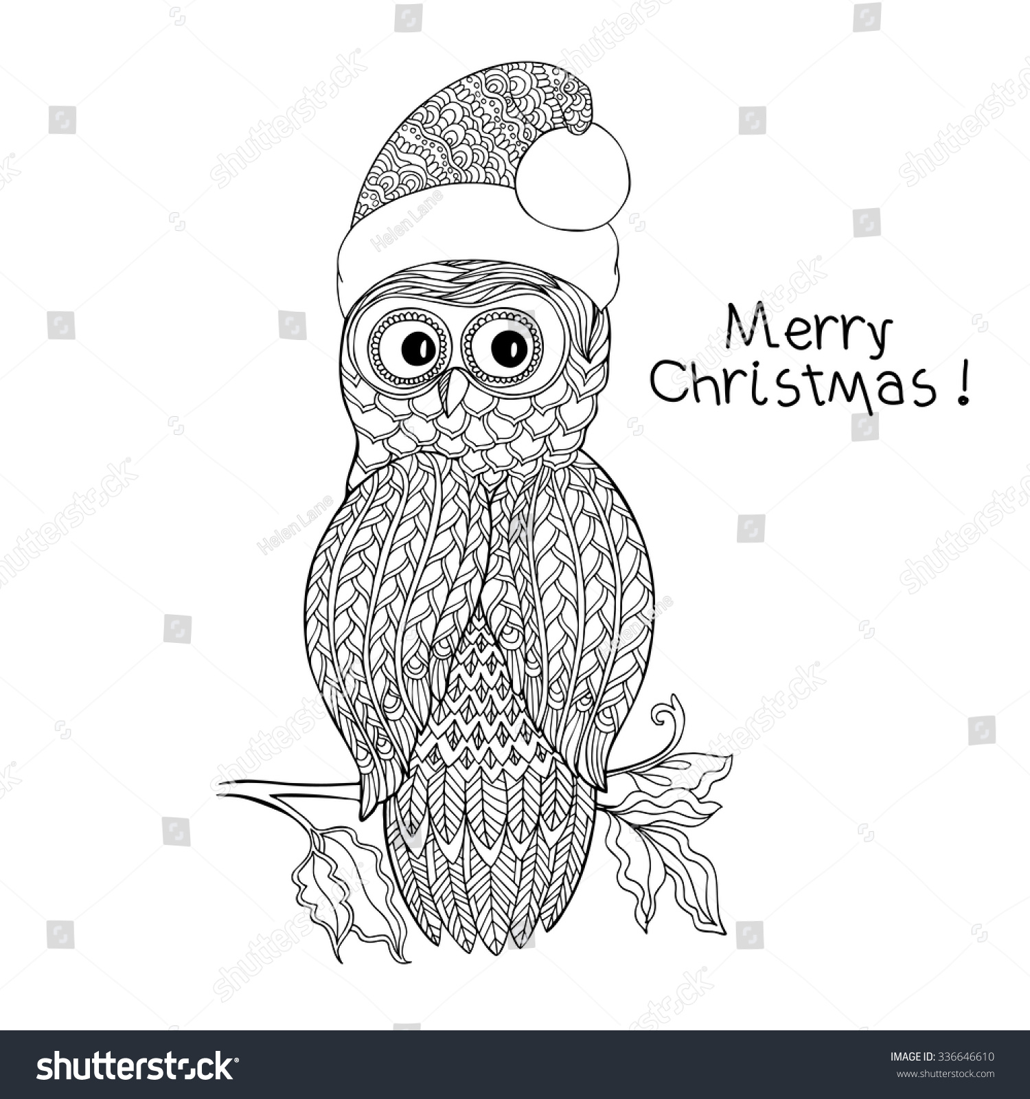 Christmas Christmas Coloring Pages Of Owls In HatsChristmas