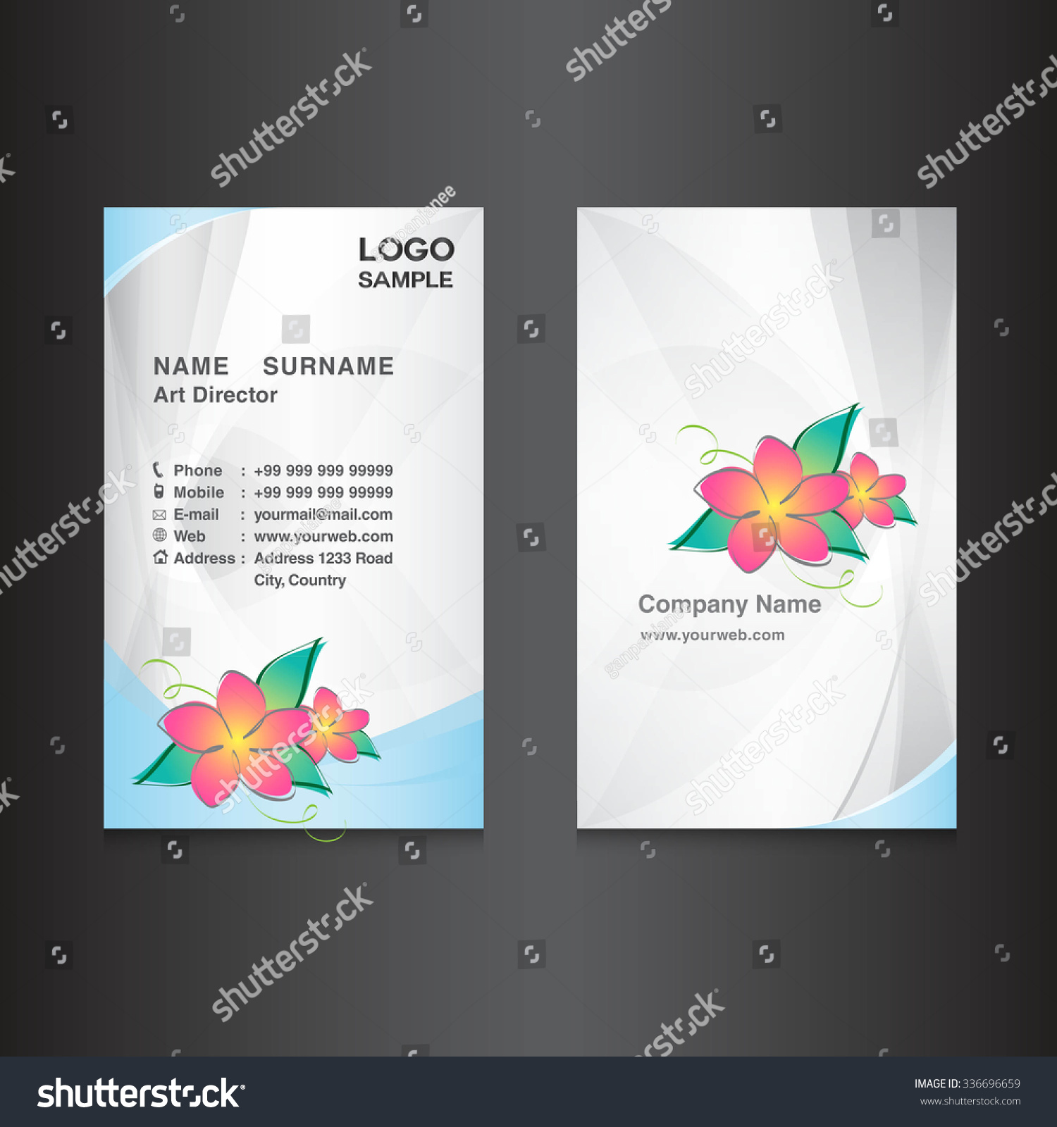 Silver business card designcard design vector stock vector silver business card designcard design vector illustrationwhite background flower vector magicingreecefo Images