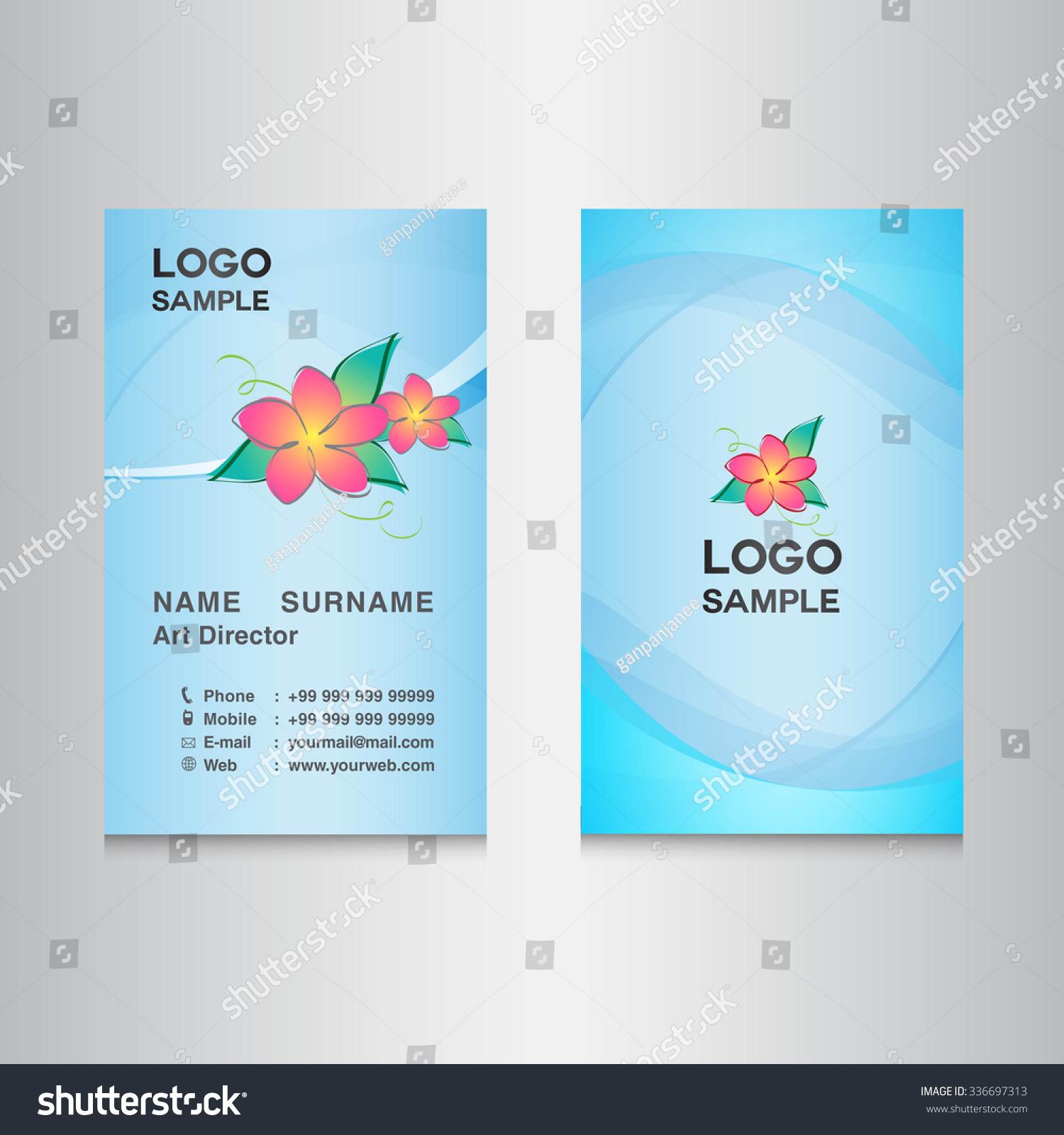 Blue Sky Business Card Designcard Design Stock Vector 336697313 ...