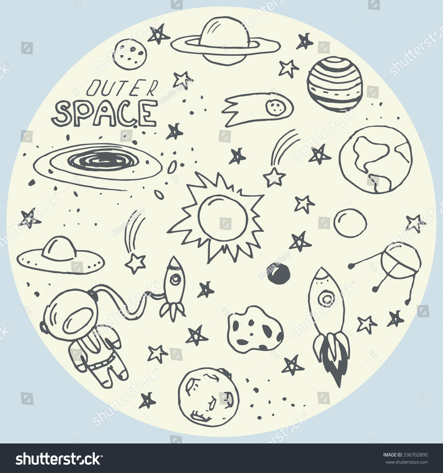 astronomy doodles - photo #28