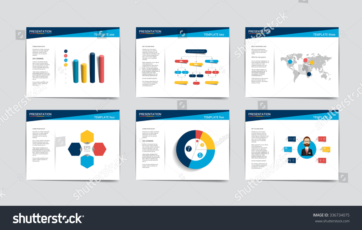 6 presentation business templates Infographics for leaflet poster slide magazine book brochure website print