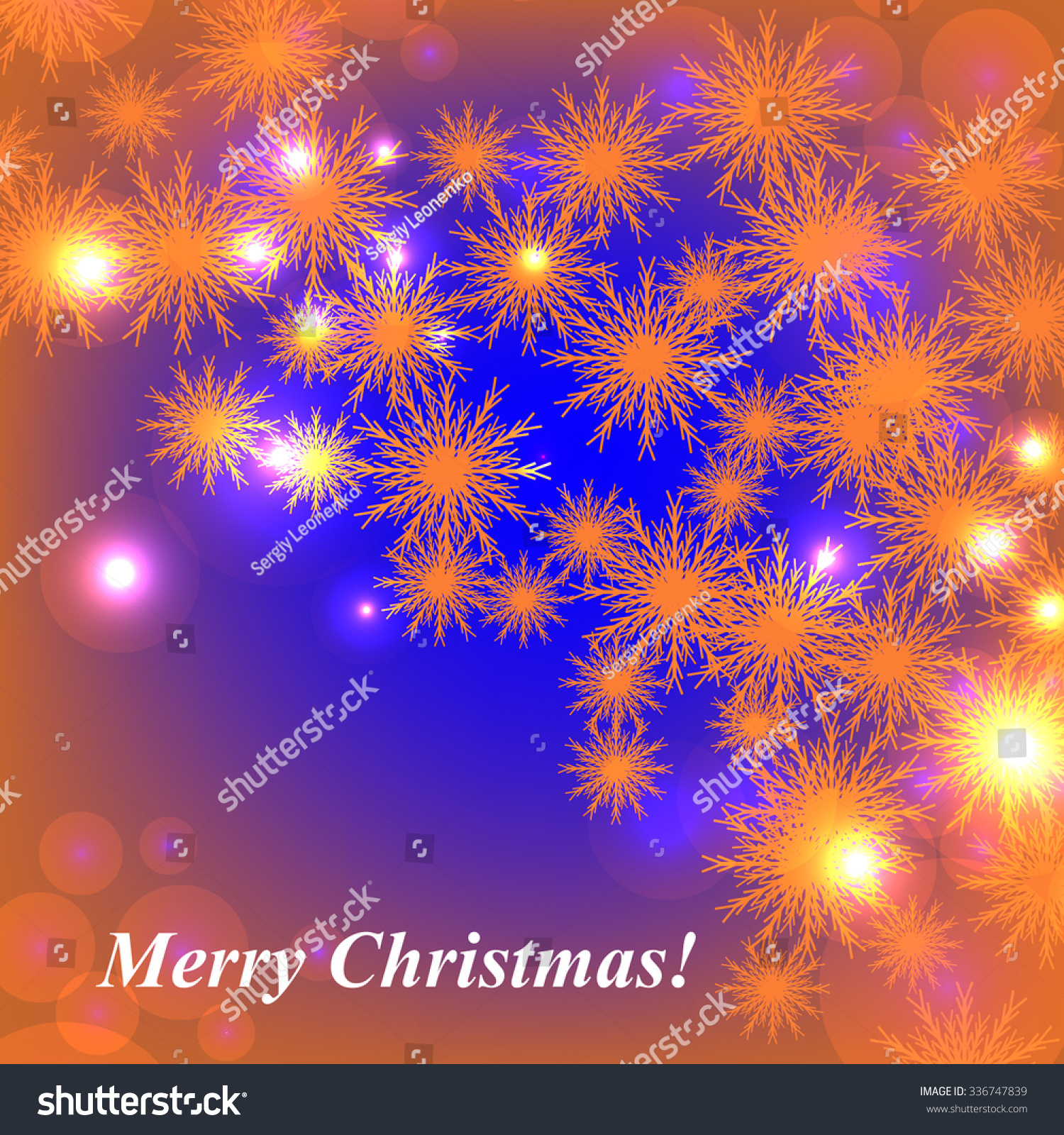 Christmas Glowing Lights Merry Christmas Happy Stock Vector