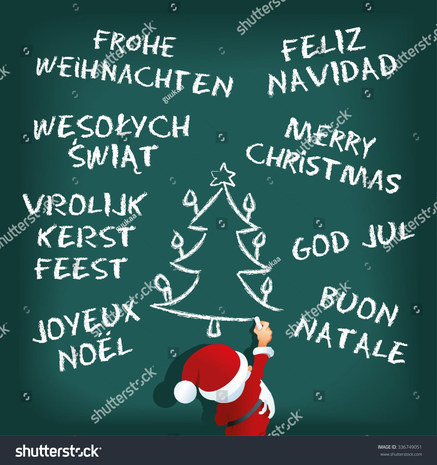 Merry Christmas Different Languages.Santa Claus In Different Languages Merry Christmas In