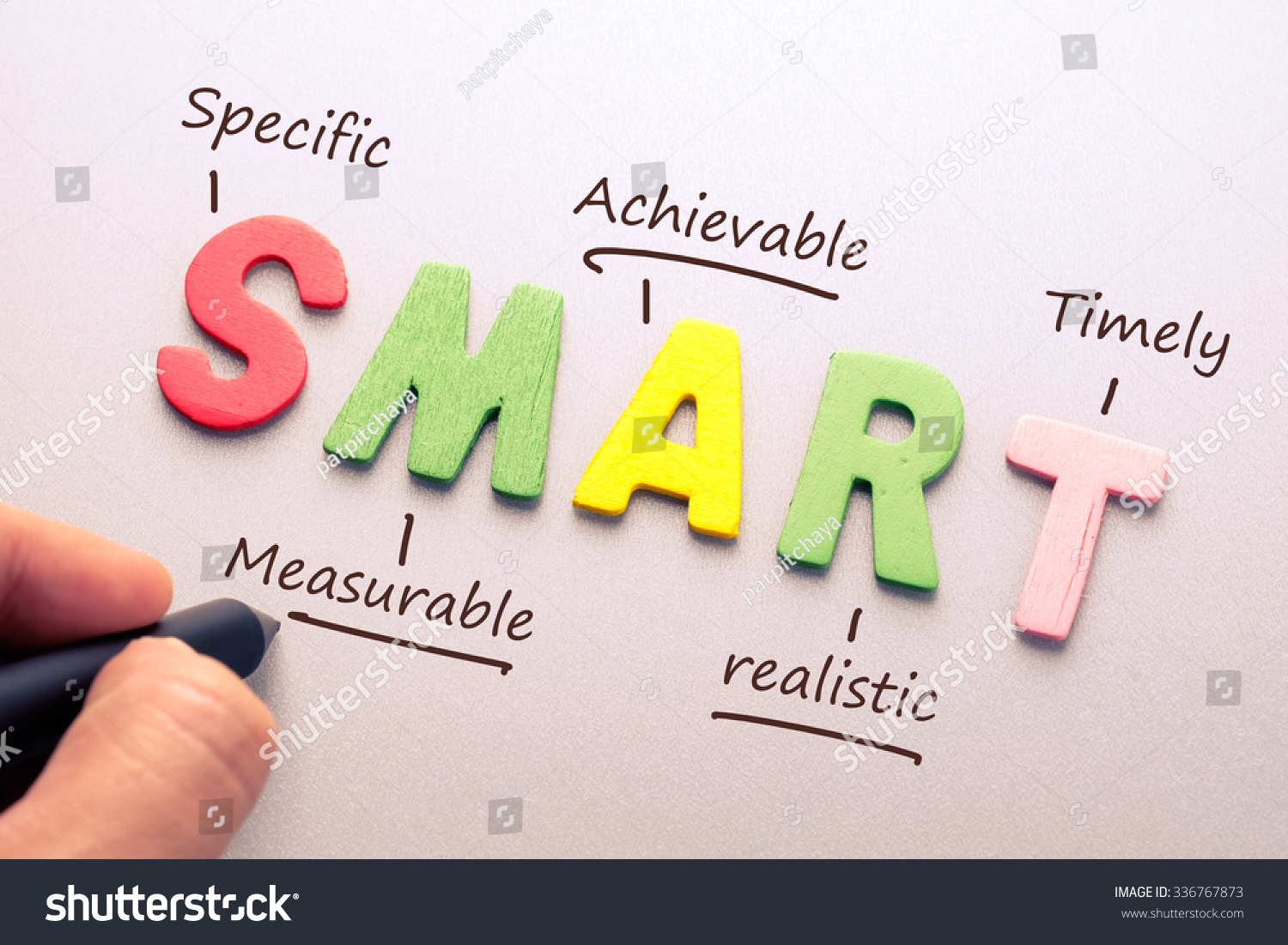 Wood Letter Smart Word Hand Writing Stock Photo 336767873