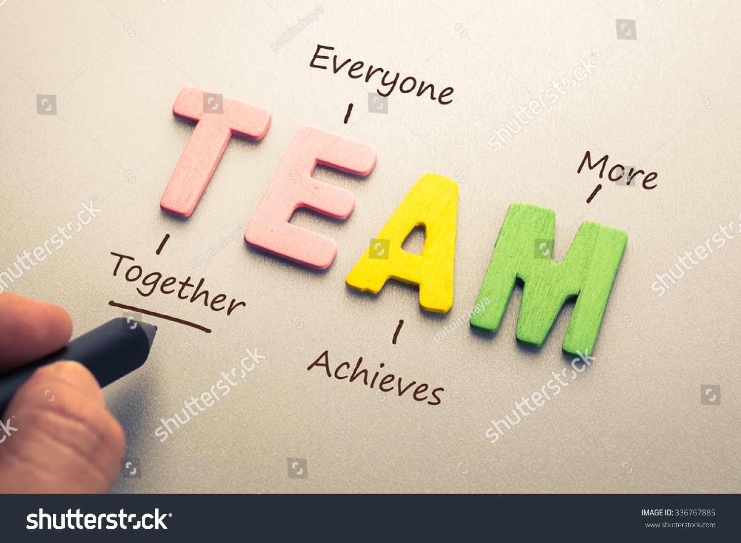 Wood letter team word acronym hand stock photo 336767885 Define calligraphy